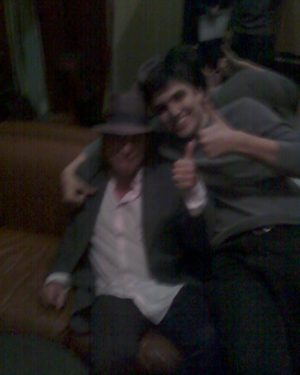 Here is photographic evidence of that time I totally invaded Gary Lucas' personal space for a picture (on a very old phone, obviously)