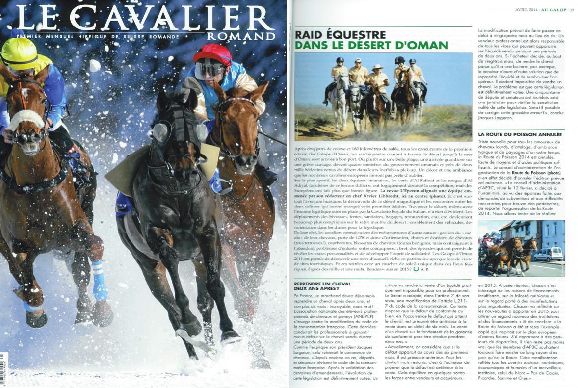 Le cavalier romand (Suisse)