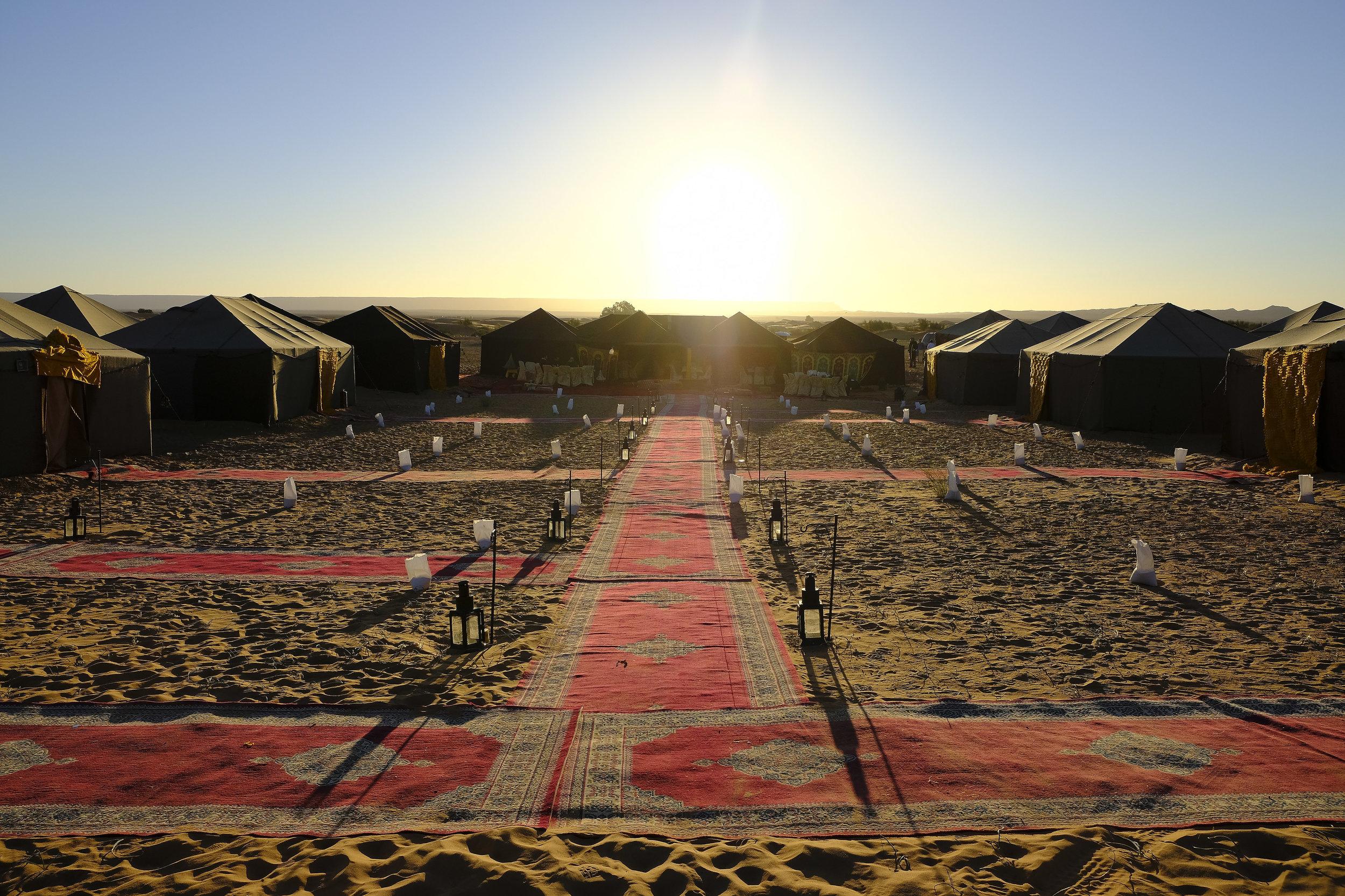Desert camp in Gallops of Morocco 2018