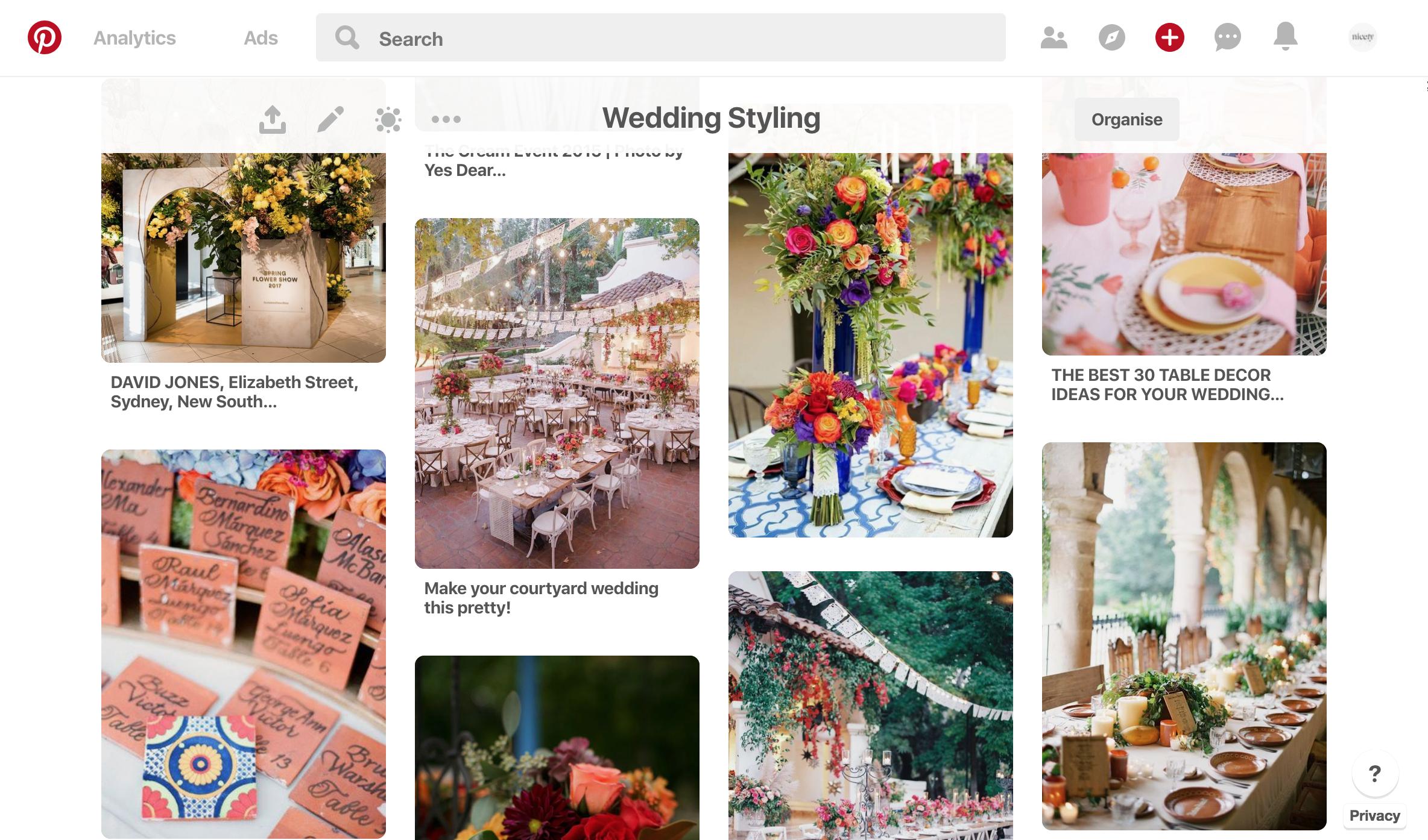 Nicety Studio Wedding Styling Board