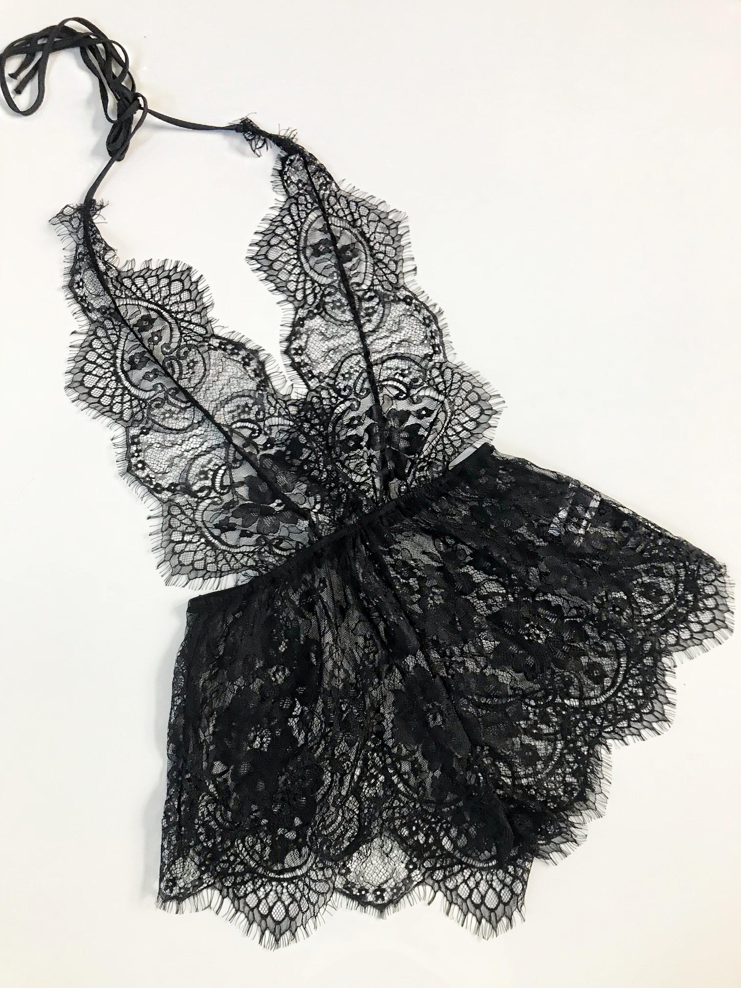 lace teddy - BLACKS, M$23