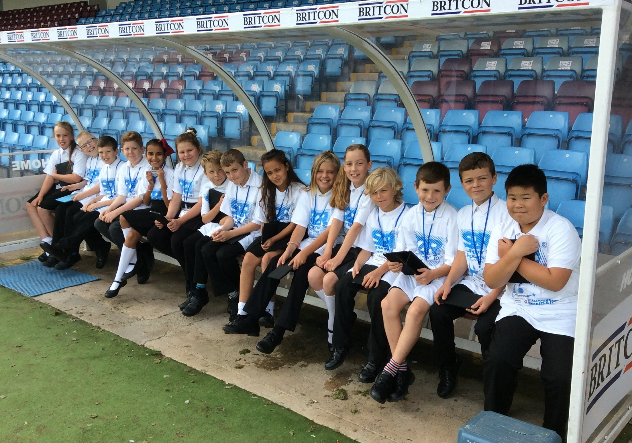 Pupils from Brumby Junior School on their Ground Tour