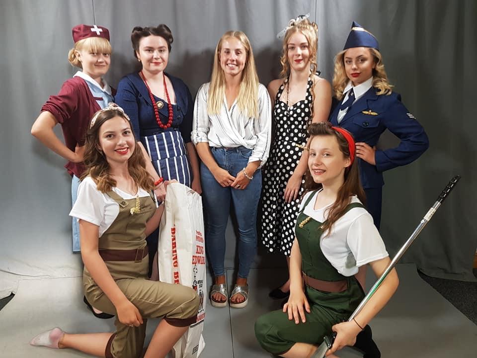 Back row - Amy, Charlotte, Amy (Hairstylist), Alisha, Jasmine  Front row - Lucy and Emily