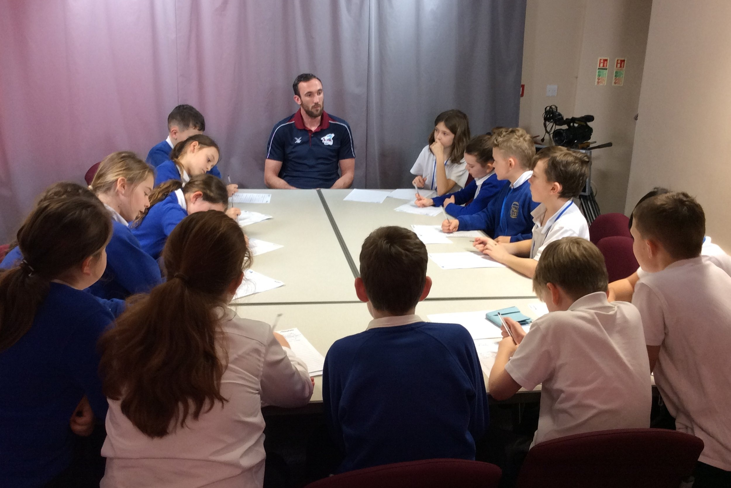Rory McArdle with Brigg Primary