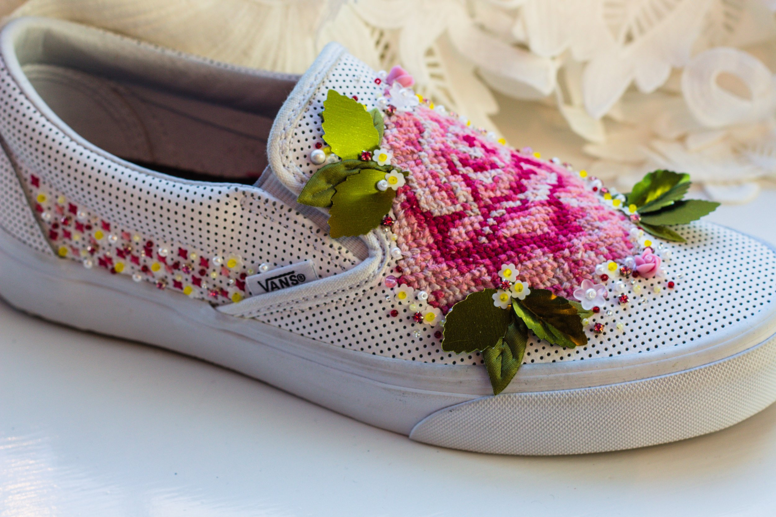 Cally - Cross stitched shoes...truly unique!