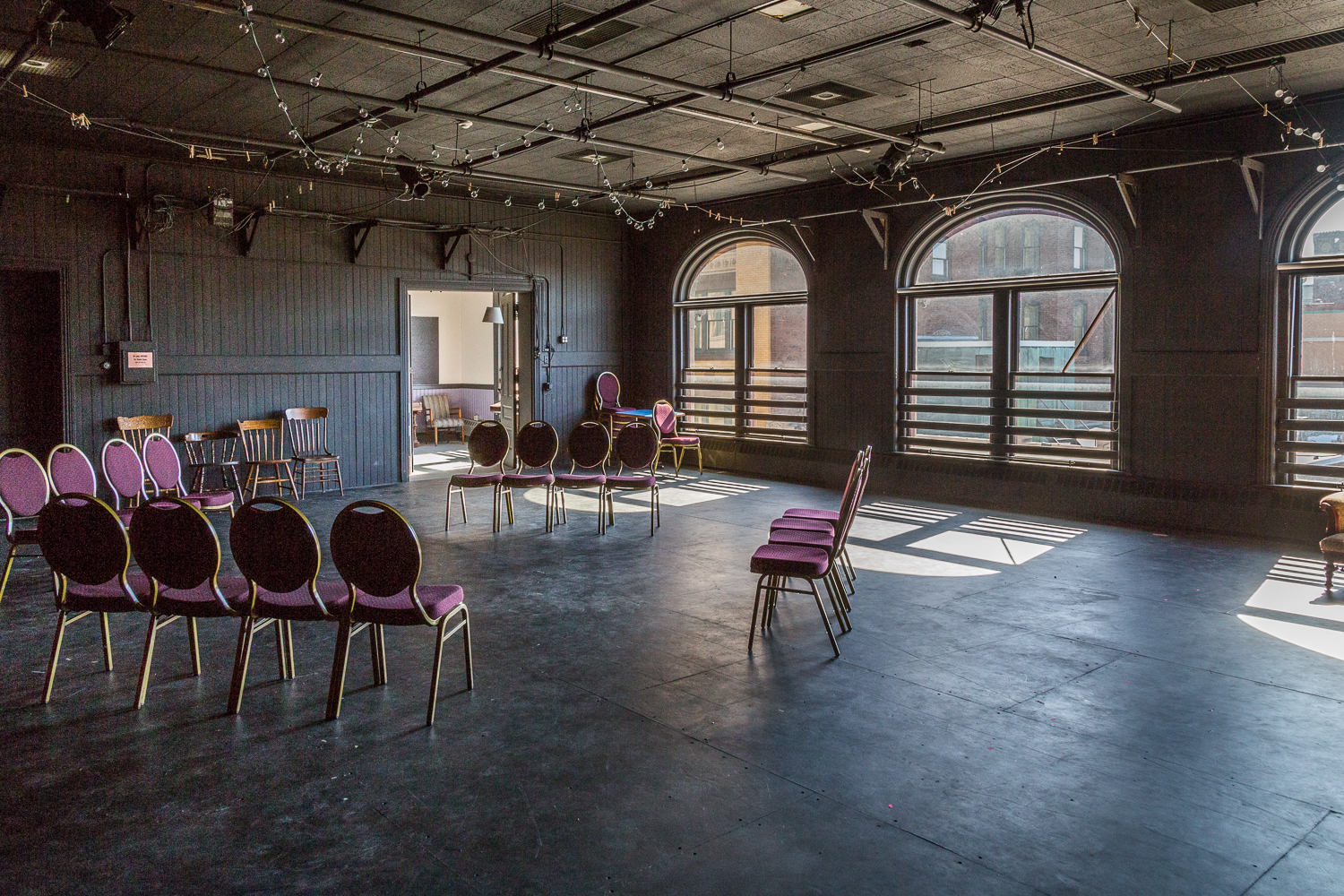 """The """"Black Box"""" theater and rental space"""