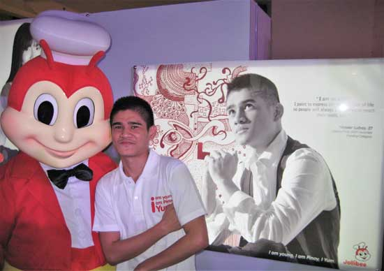 Recognition from Jollibee as Youth Icon Yumbasador for Art.