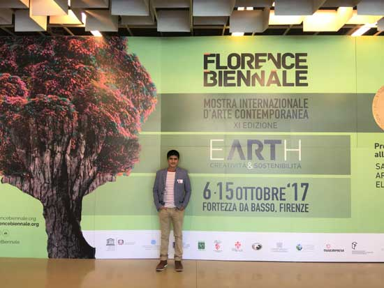 At the Florence Biennale, October 2017.