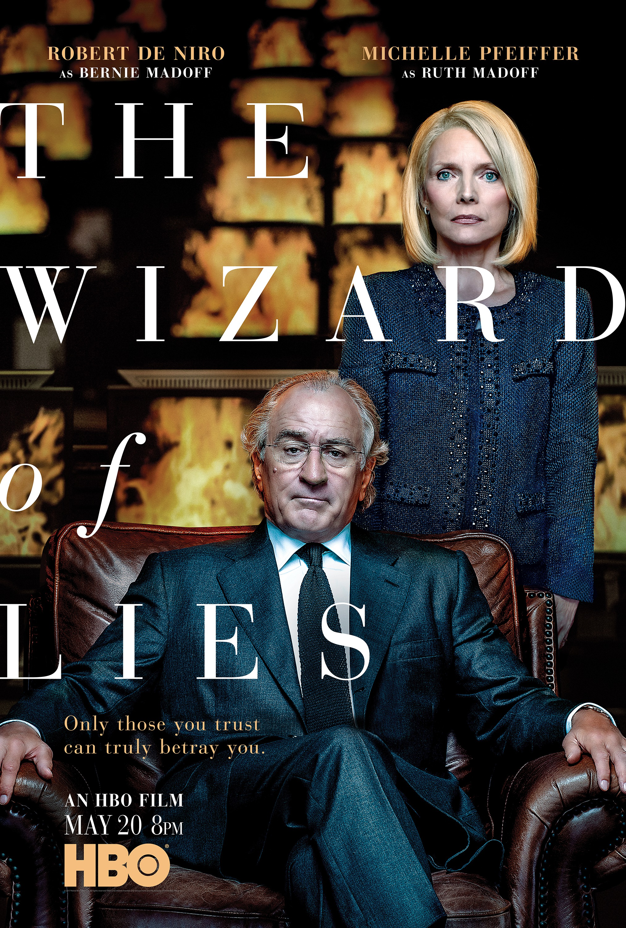 """ROBERT DENIRO AND MICHELLE PFEIFFER FOR """"THE WIZARD OF LIES"""", PRODUCED BY HBO"""