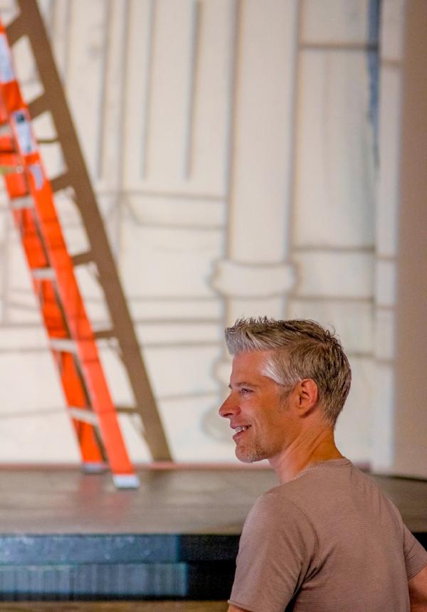 Scenic designer/painter Jeff Barrick