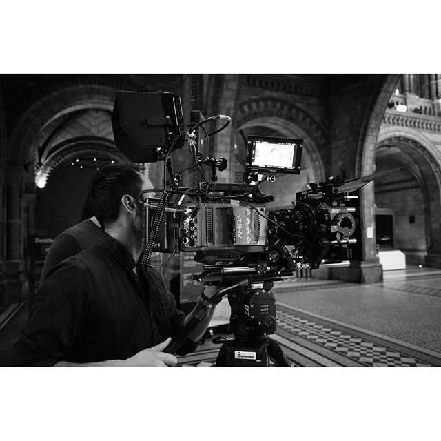 Gratuitous camera photo, sorry. #dop #dp #arriamira #arri #cooke #cookes4i #naturalhistorymuseum #setlife