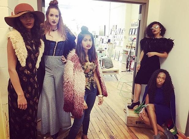 Le Models: (From Left to Right) Robina, Cassandra, Me, Jasmine, Coretta