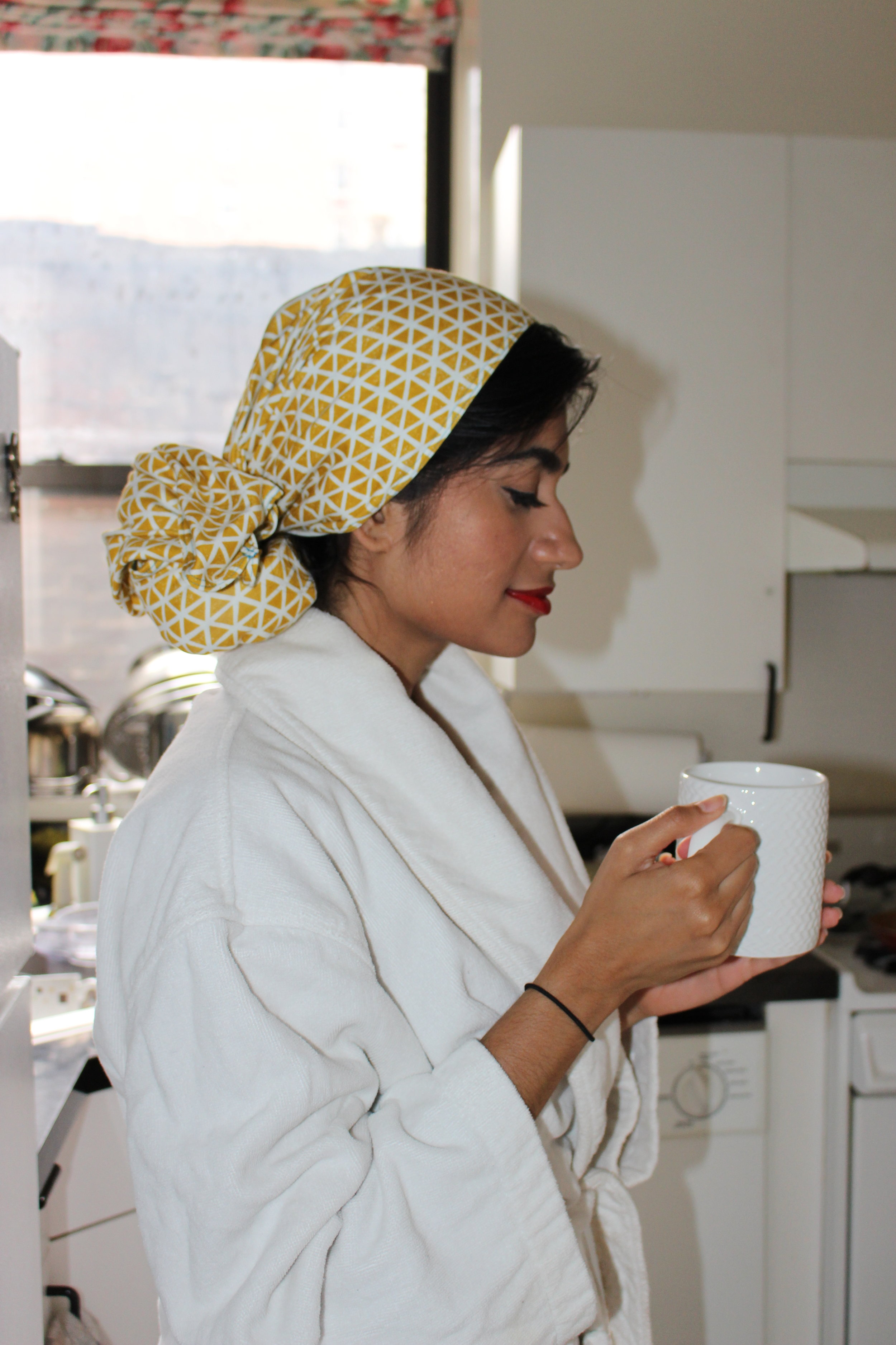 A moment of zen in my busy morning kitchen thanks to this ultra-soft Lakeshore Dry Goods towel.
