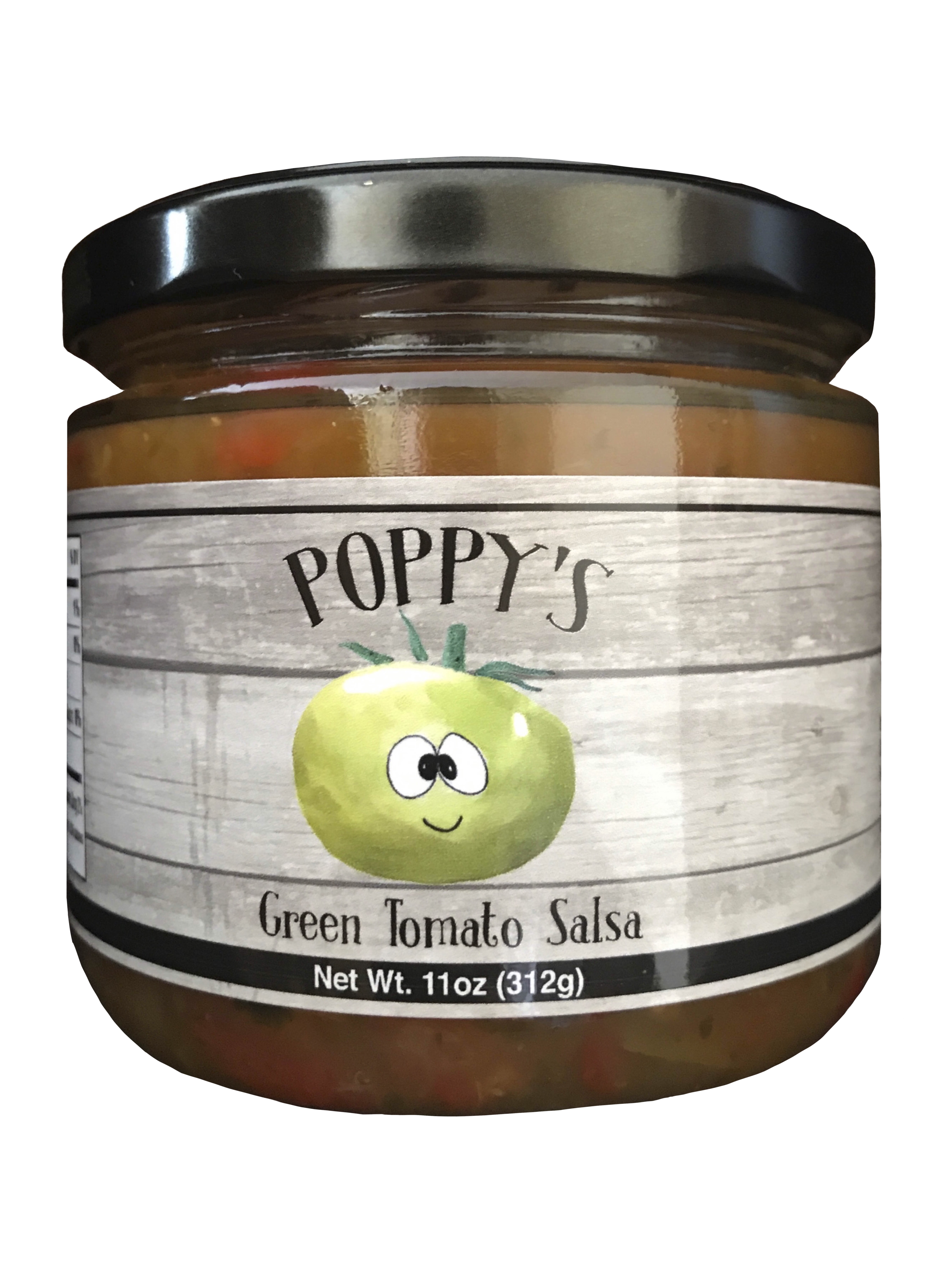 A little about us... - Poppy's is a small family run business based out of Clarksburg, MD. Our philosophy is that natural ingredients simply just taste better. Poppy's signature Green Tomato Salsa is a truly unique approach to a classic pantry staple. Tart green tomatoes, fresh garden vegetables, and slow roasted jalapenos add just the right amount of heat to make this salsa a welcome accompaniment for any household. We, as a company and a family, are excited to share Poppy's with you so let us bring our love of food to you by stocking your shelves with Poppy's Green Tomato Salsa.