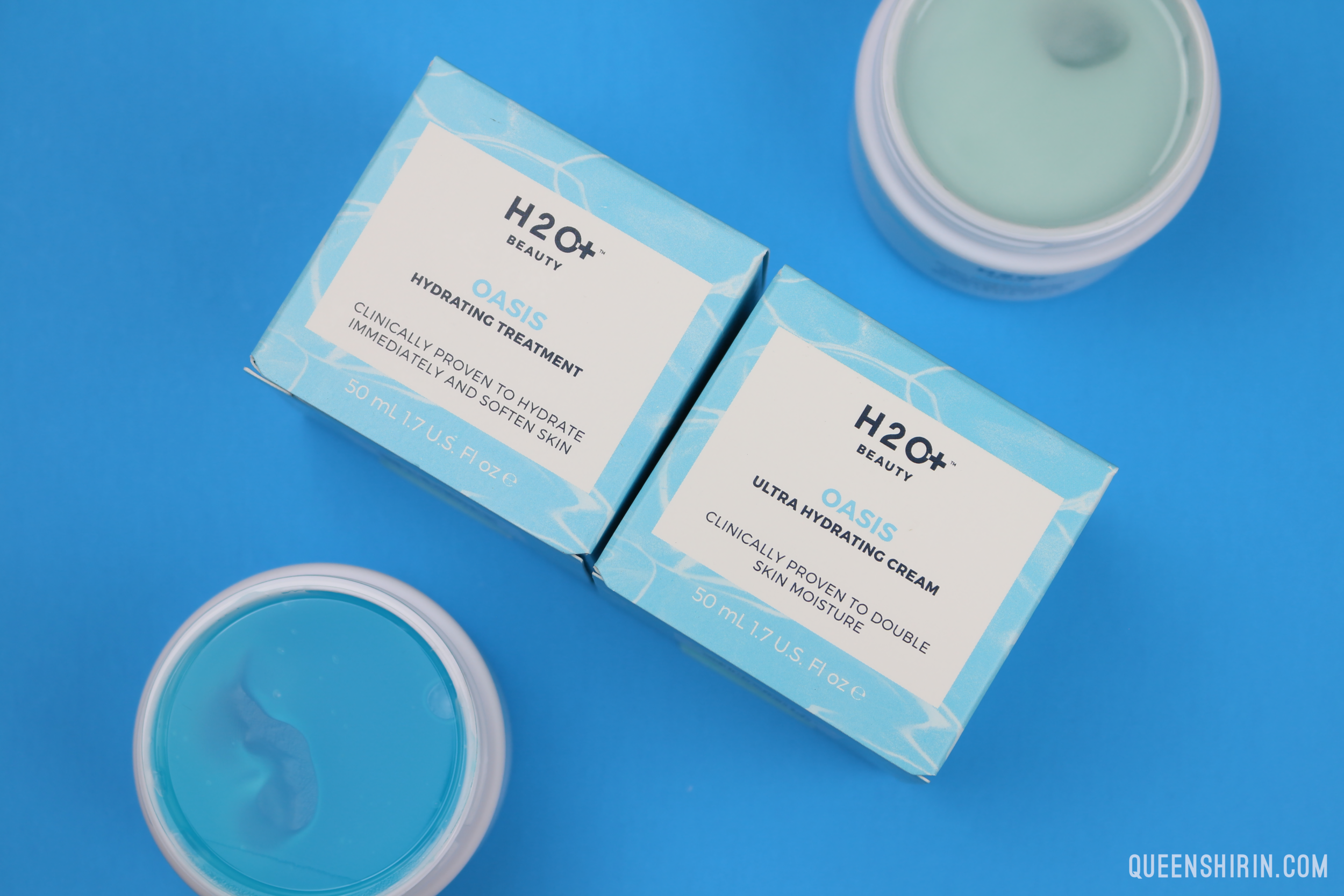 H2O Beauty Oasis Ultra Hydrating Cream and Oasis Hydrating Treatment | Queen Shirin | queenshirin.com