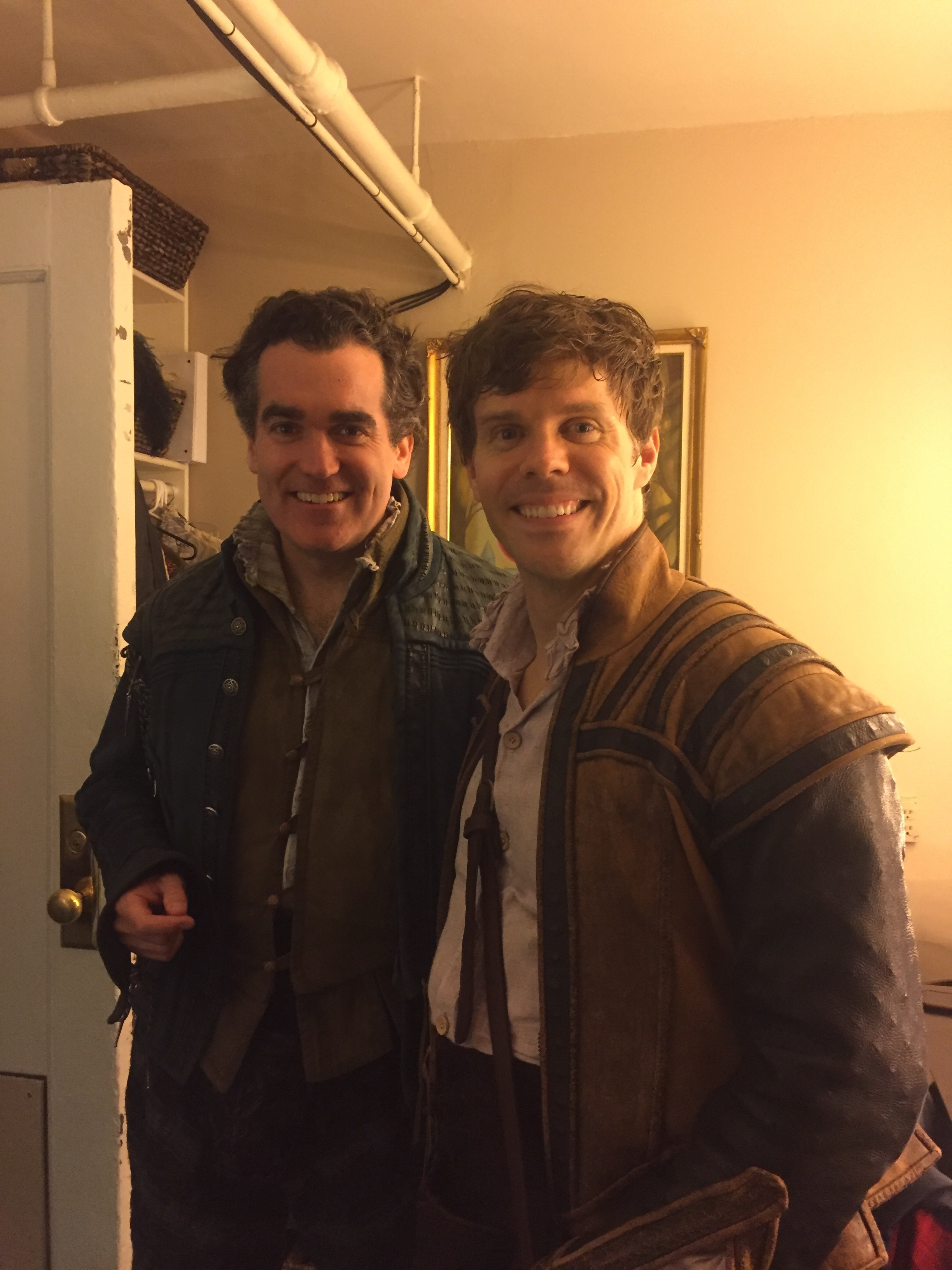 What a surreal experience to perform oposite one of my idols: Brian d'Arcy James! Do we look like brothers?