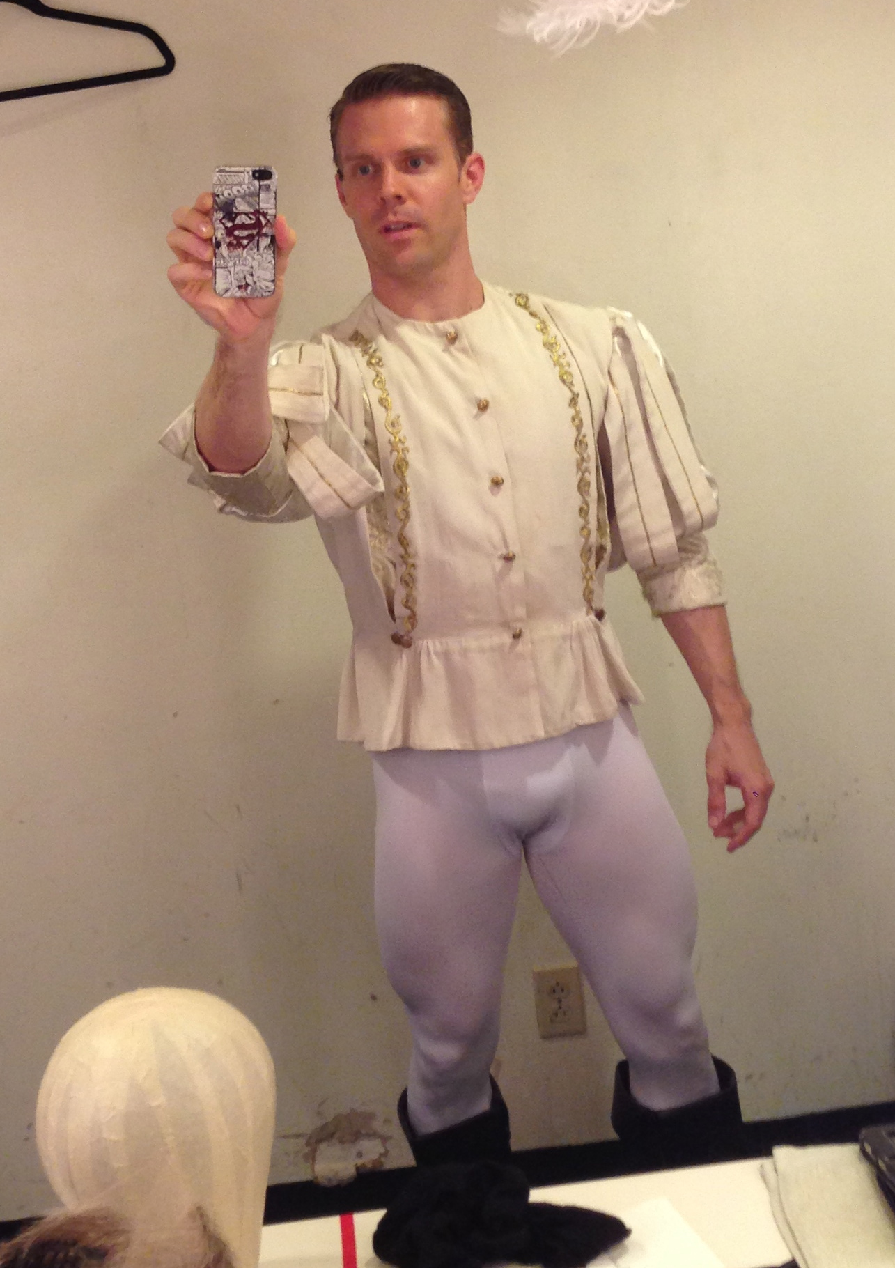 Can't do Shakespeare (or musical theatre Shakespeare) if you're not ready to wear some tights.