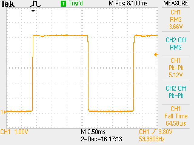 Clock signal from transistor
