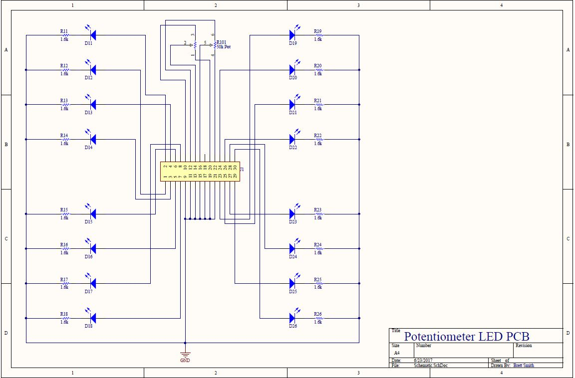 LED board schematic