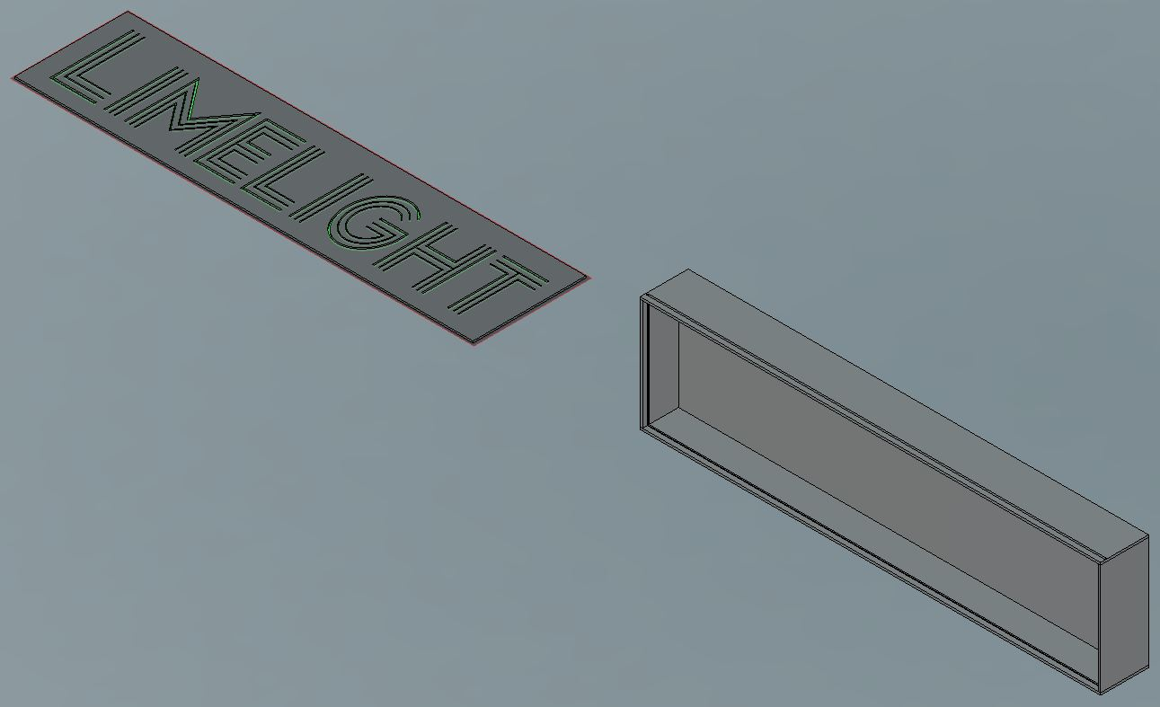 Lightbox designed in Fusion 360 and ready for CAM.