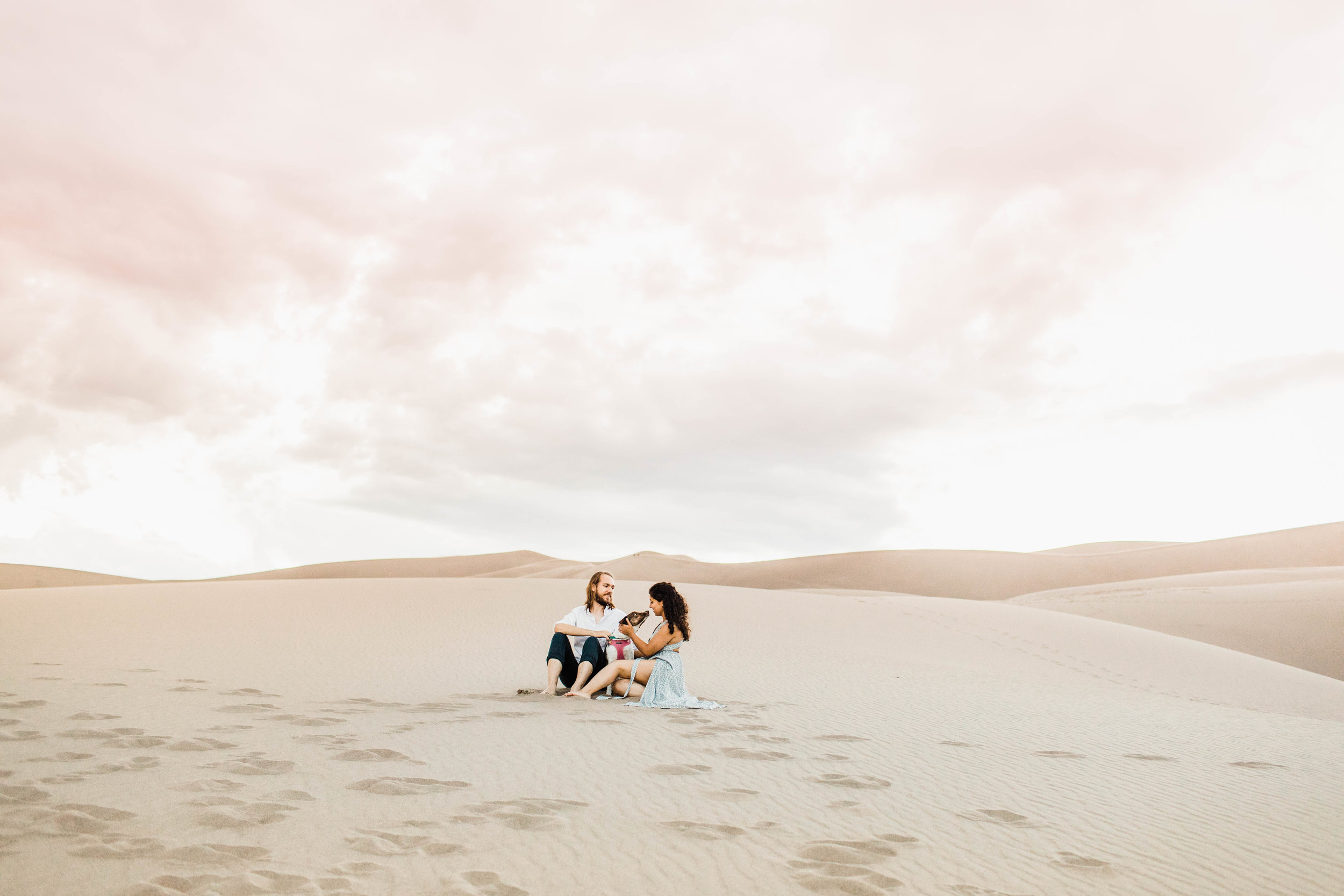 Copy of sand dunes engagement session with a puppy | Best Colorado Elopements