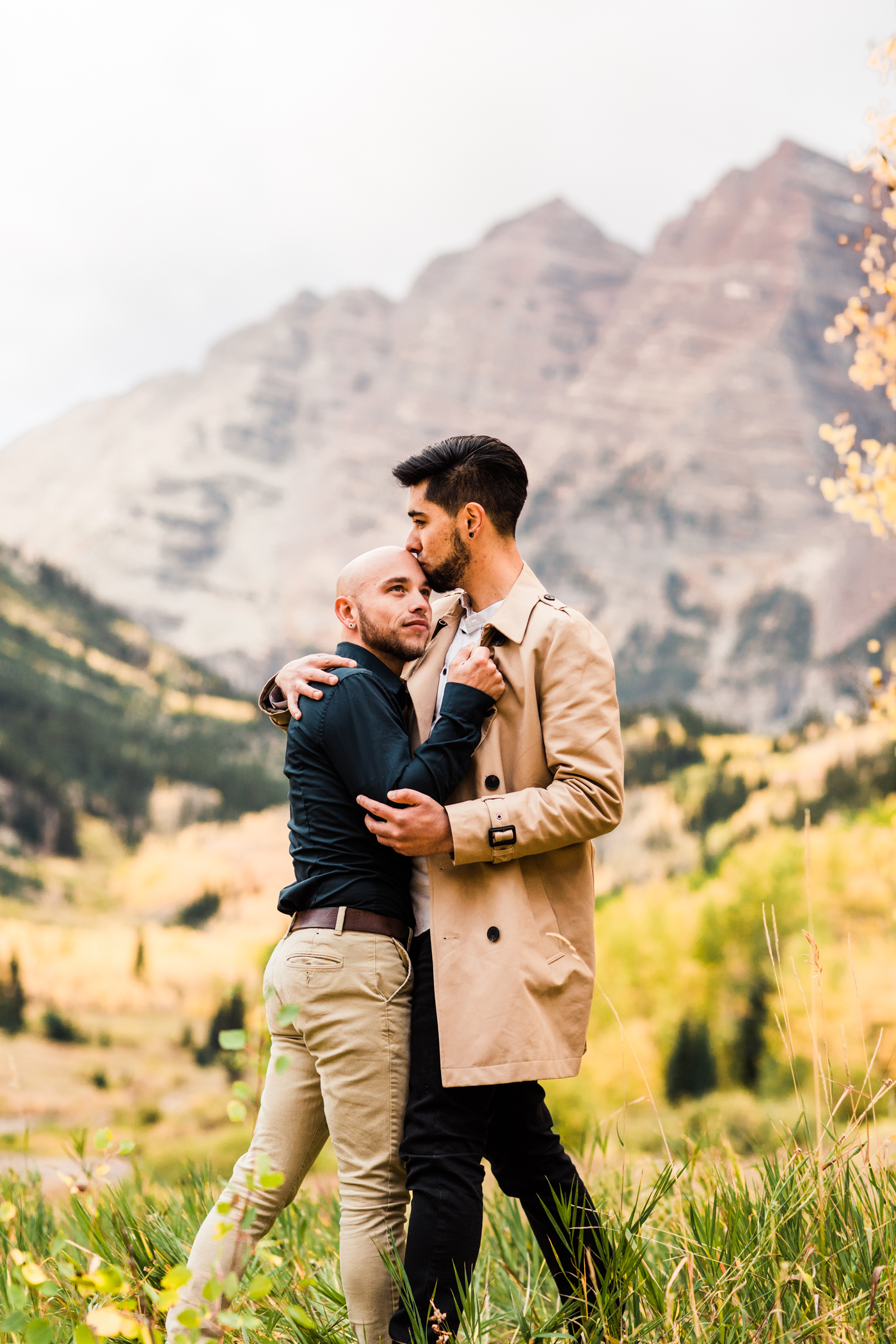Maroon Bells Aspen, Colorado Rocky Mountain Surprise Proposal Session  in the Fall | Top Aspen wedding photographers