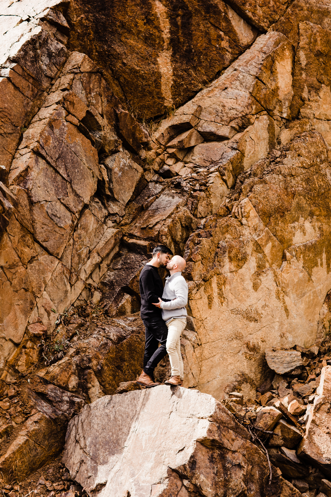 Aspen, Colorado Independence Pass Rocky Mountain Adventure Mountain Moody Hiking Adventure Session | Maroon Bells engagement