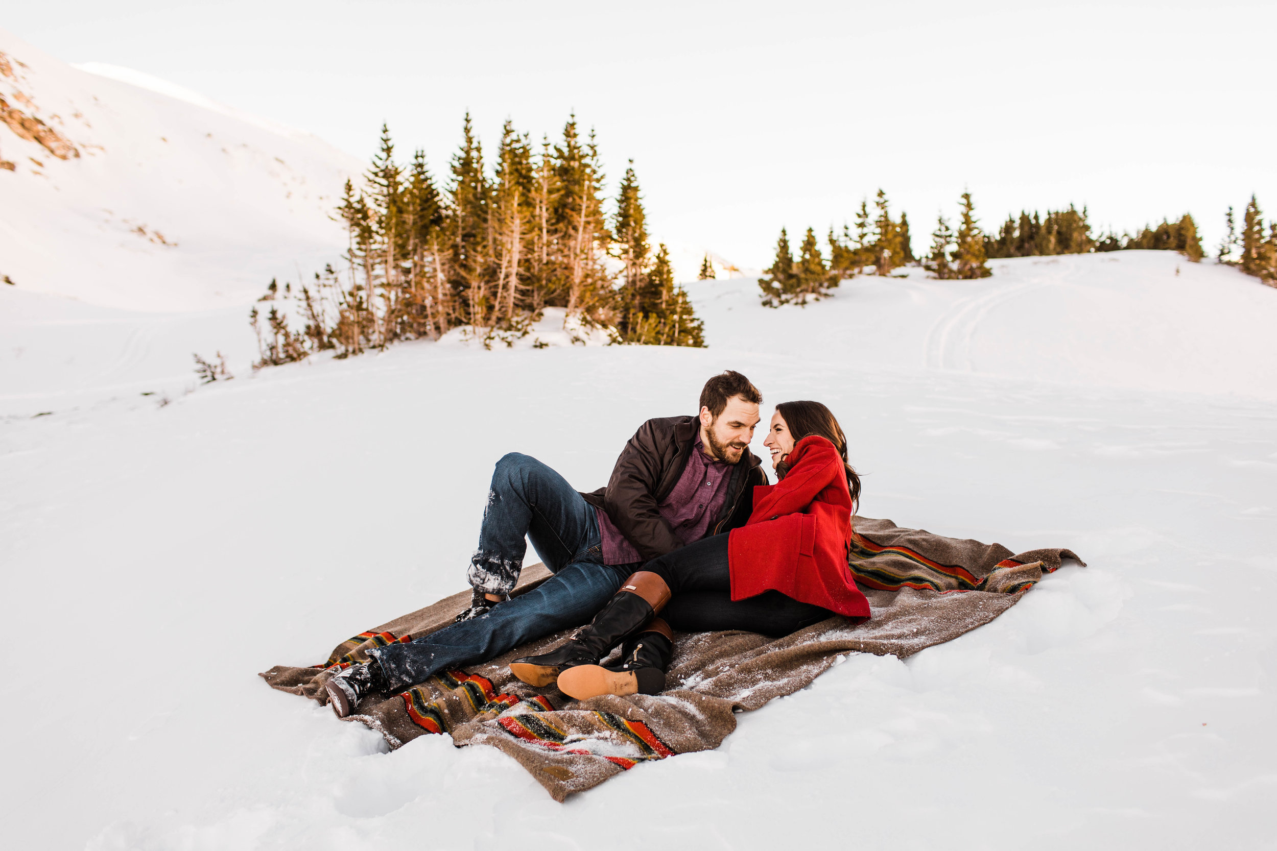 Winter Wonderland Engagement Session in Colorado | Who are the best Colorado elopement photographers
