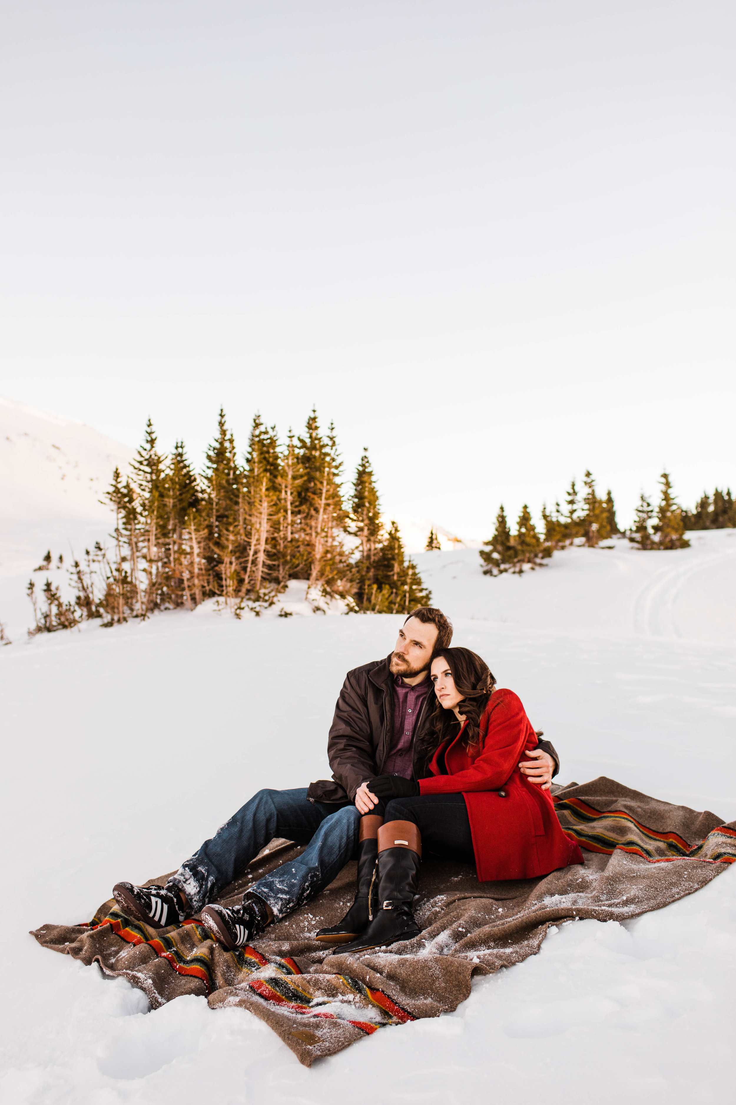 Adventure Engagement Session in the snow | Colorado Elopement Photographer