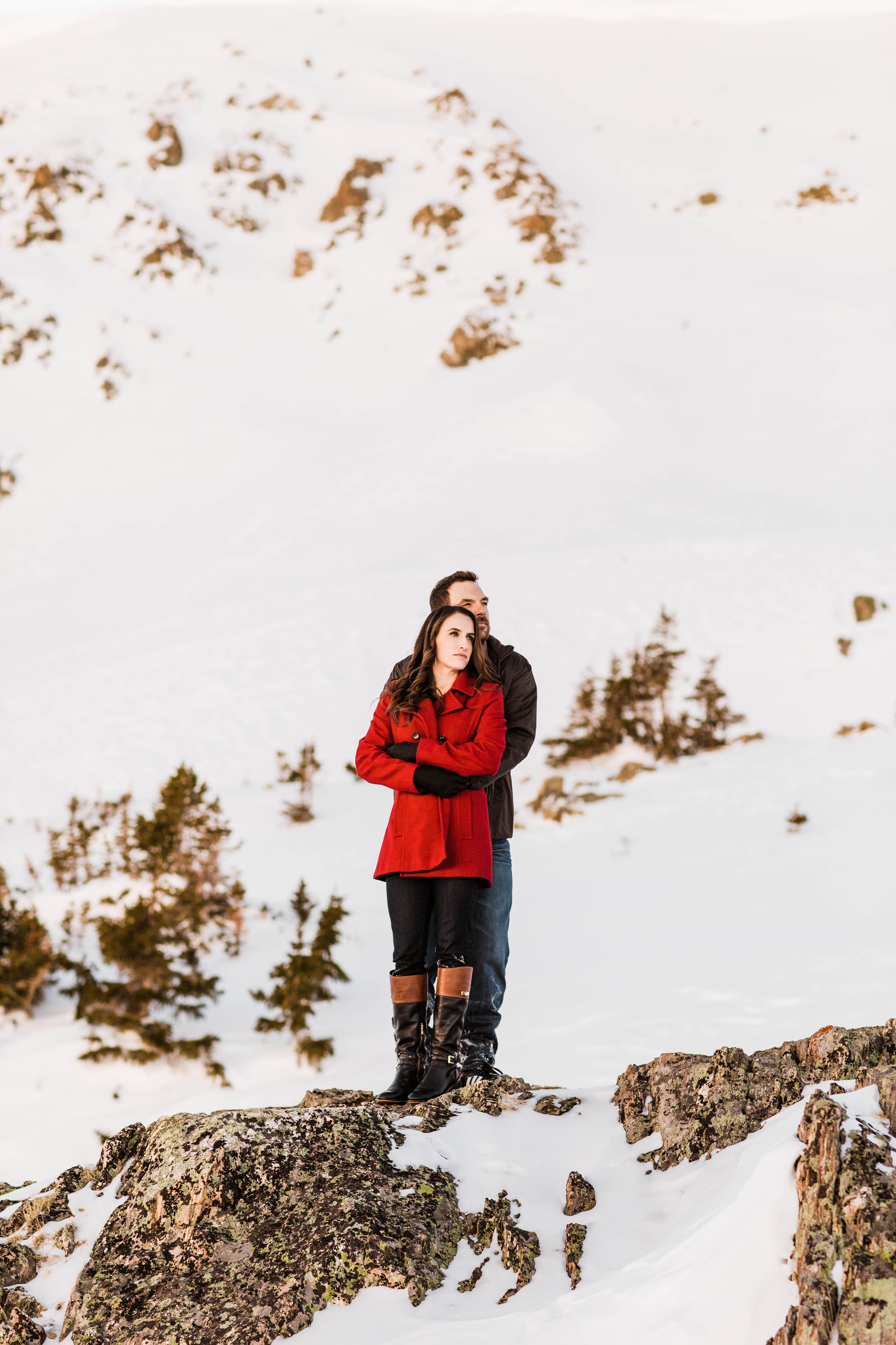 Engagement Session in Aspen Colorado | Winter Elopement Photography in Colorado