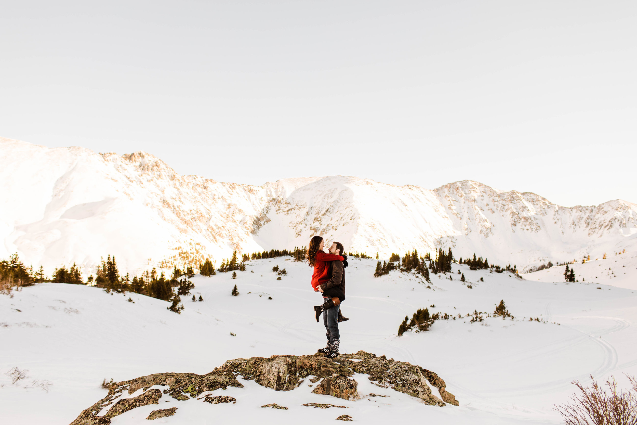 Snowy Rocky Mountain Elopement Photography