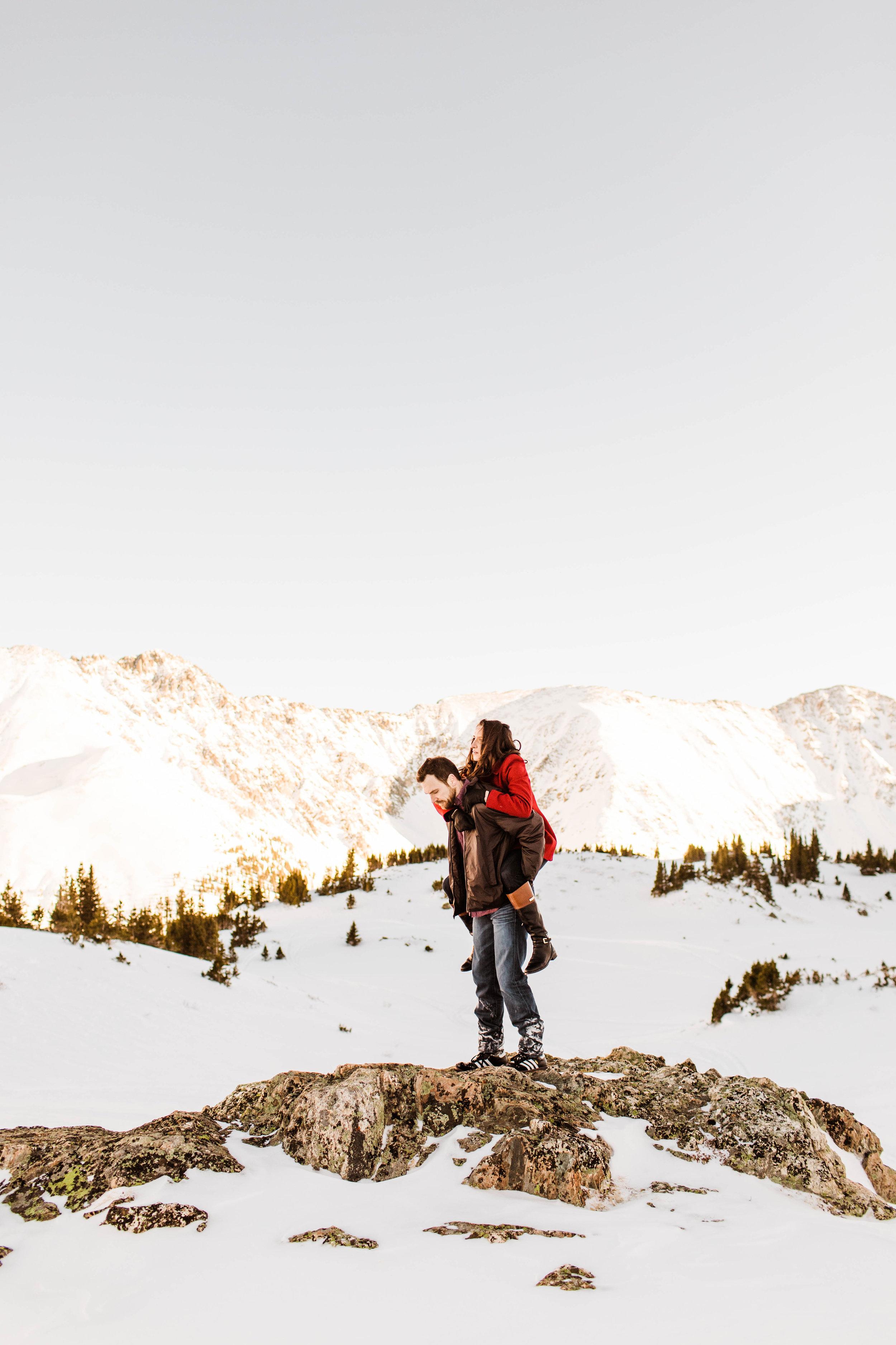 Winter Wonderland Rocky Mountain Elopement Photography