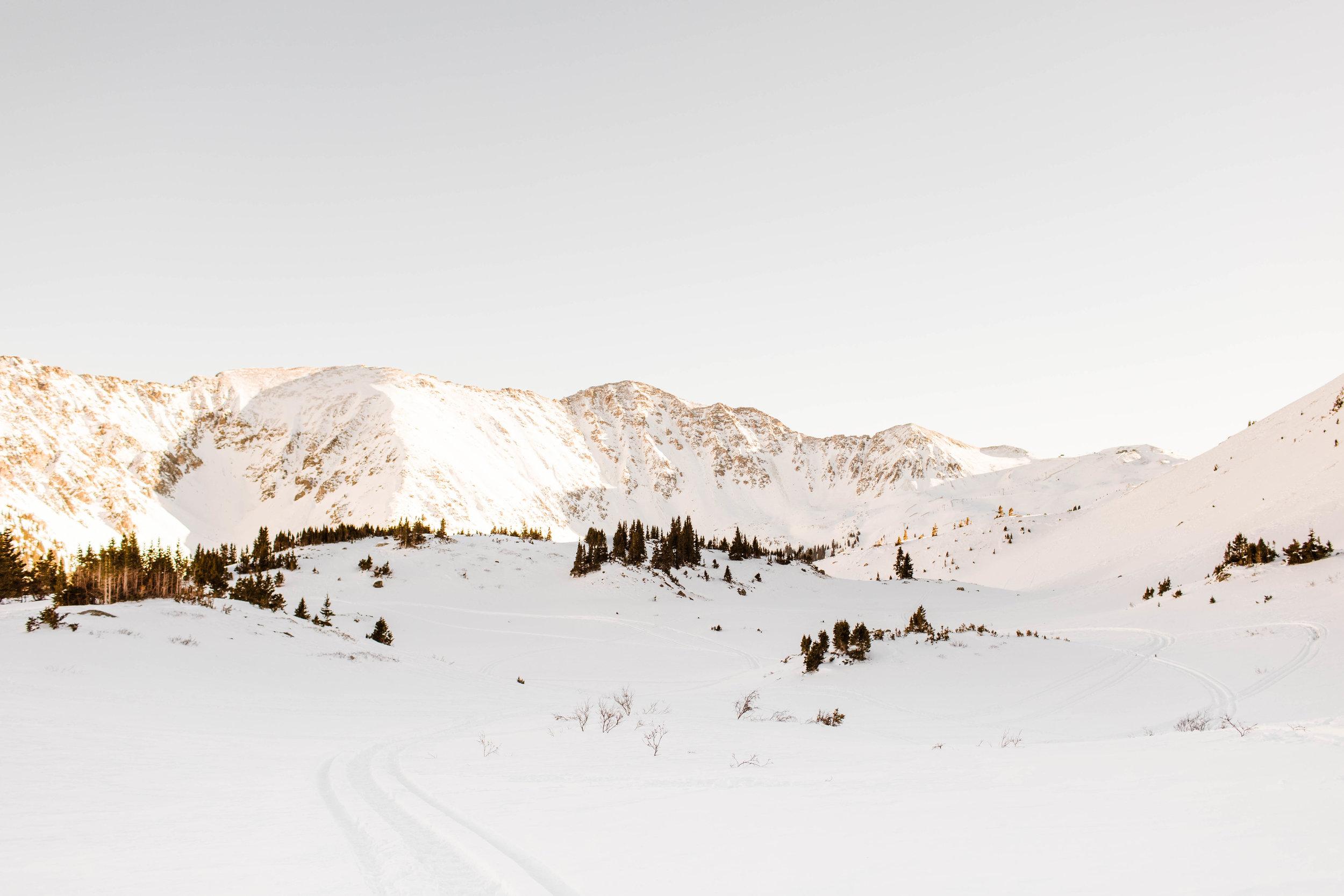Adventure Session in the snowy Colorado Rocky Mountains   Colorado Elopements