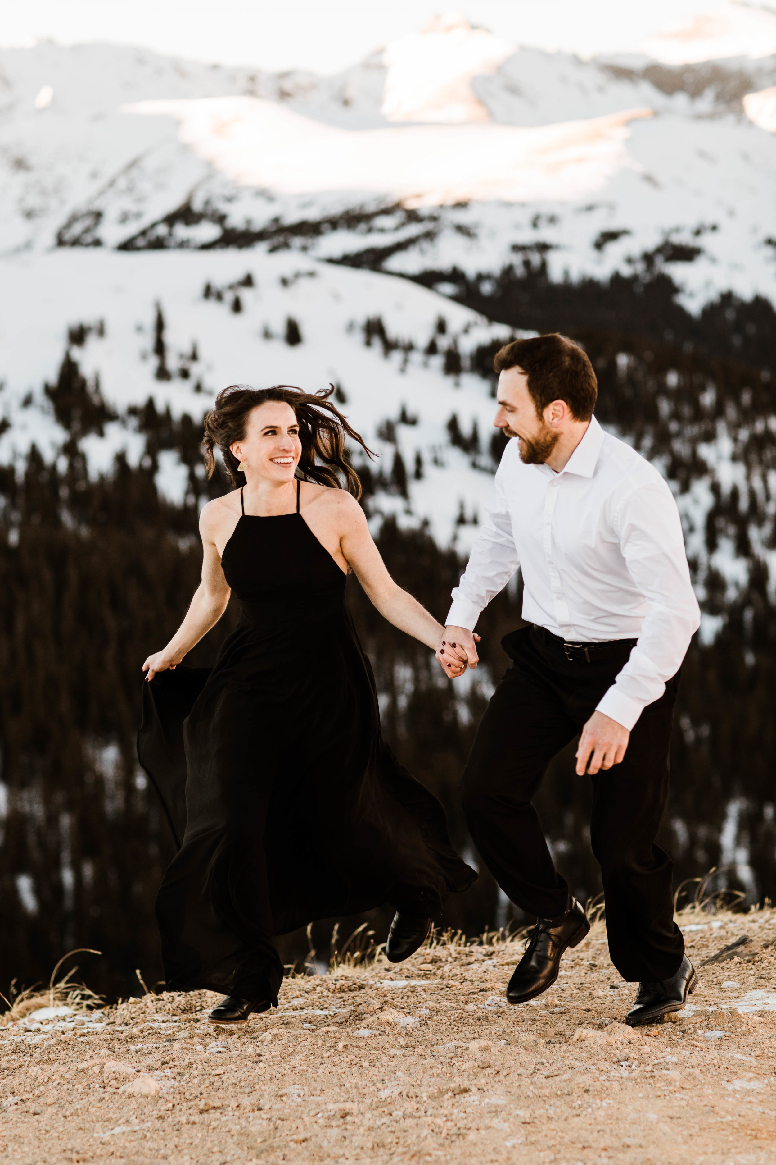 The best Colorado elopement photographers | Winter Engagement Session