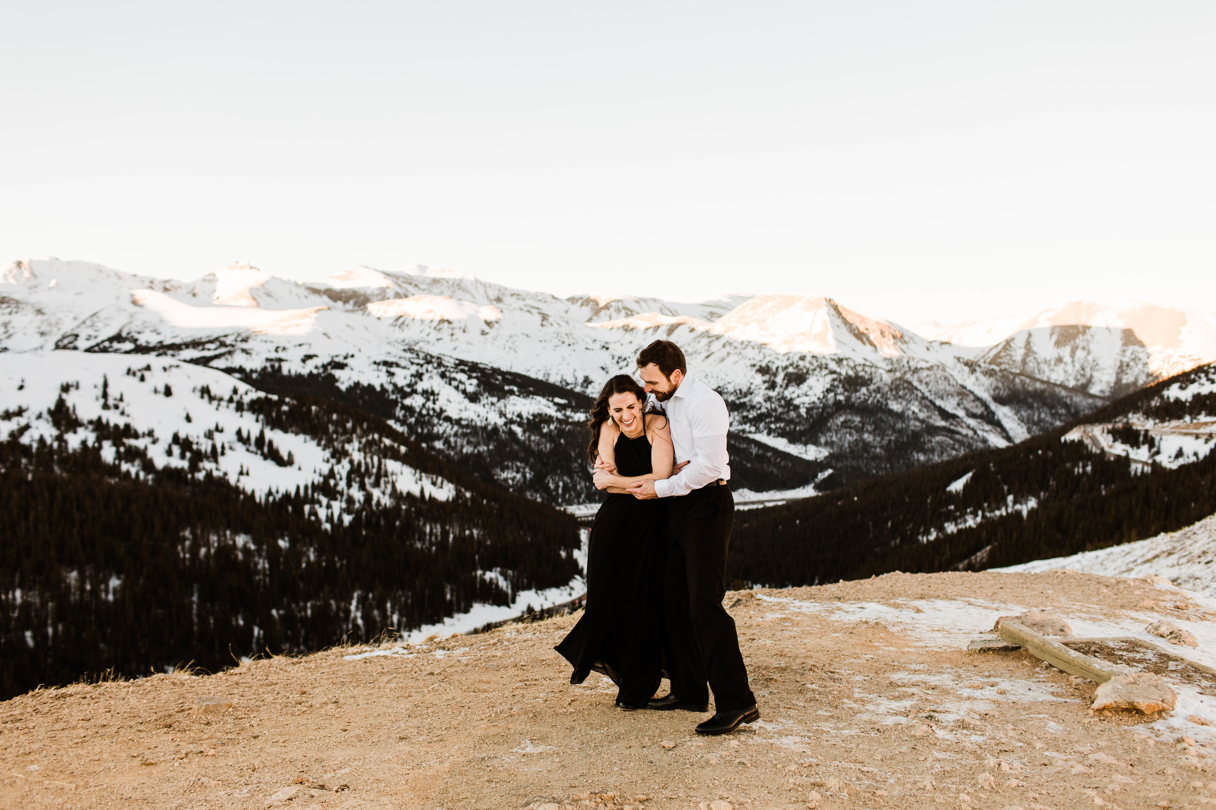Snuggling in the snowy mountains | Colorado Elopement Photography