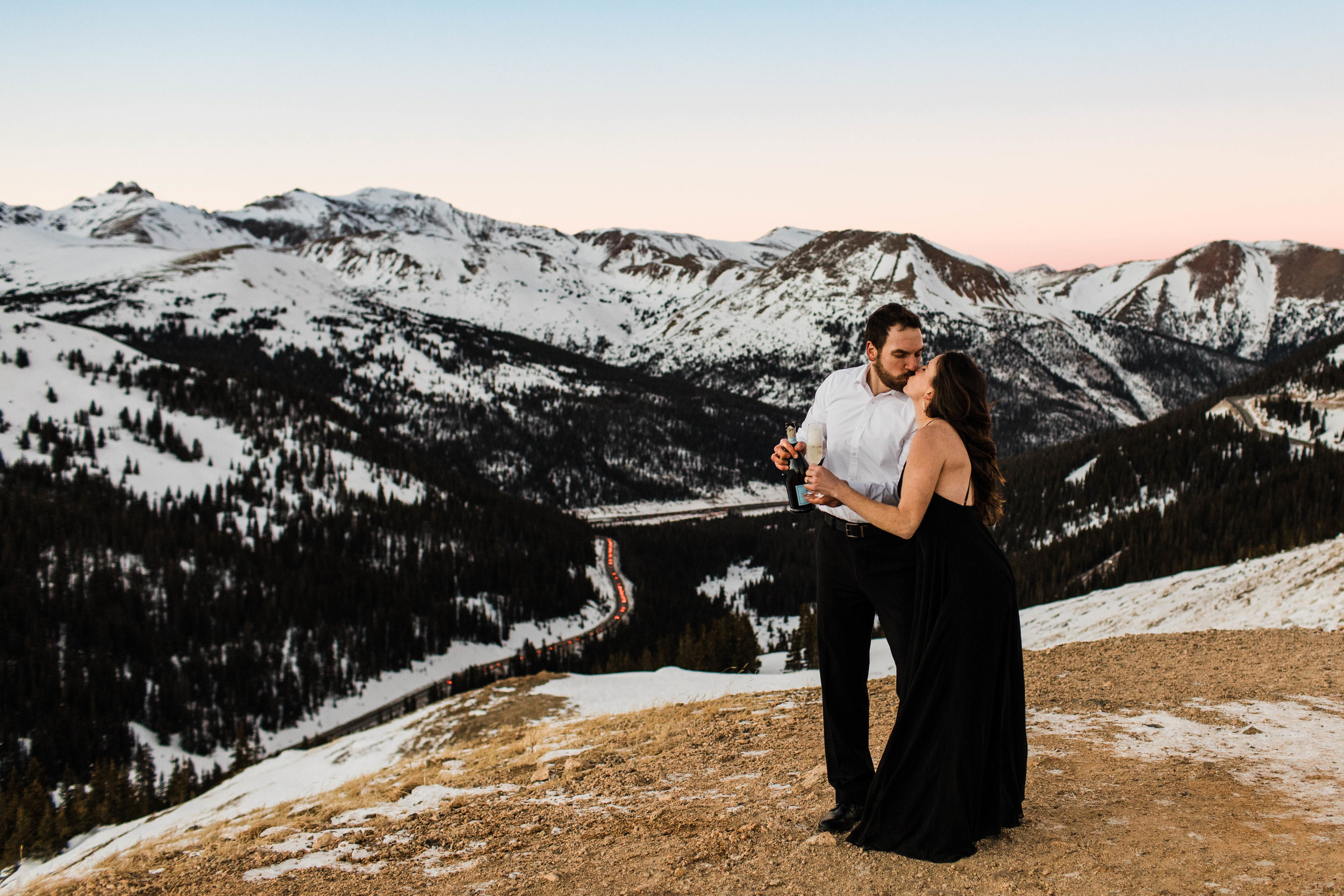 Champagne adventure session | Rocky Mountains Colorado Elopement Photographer