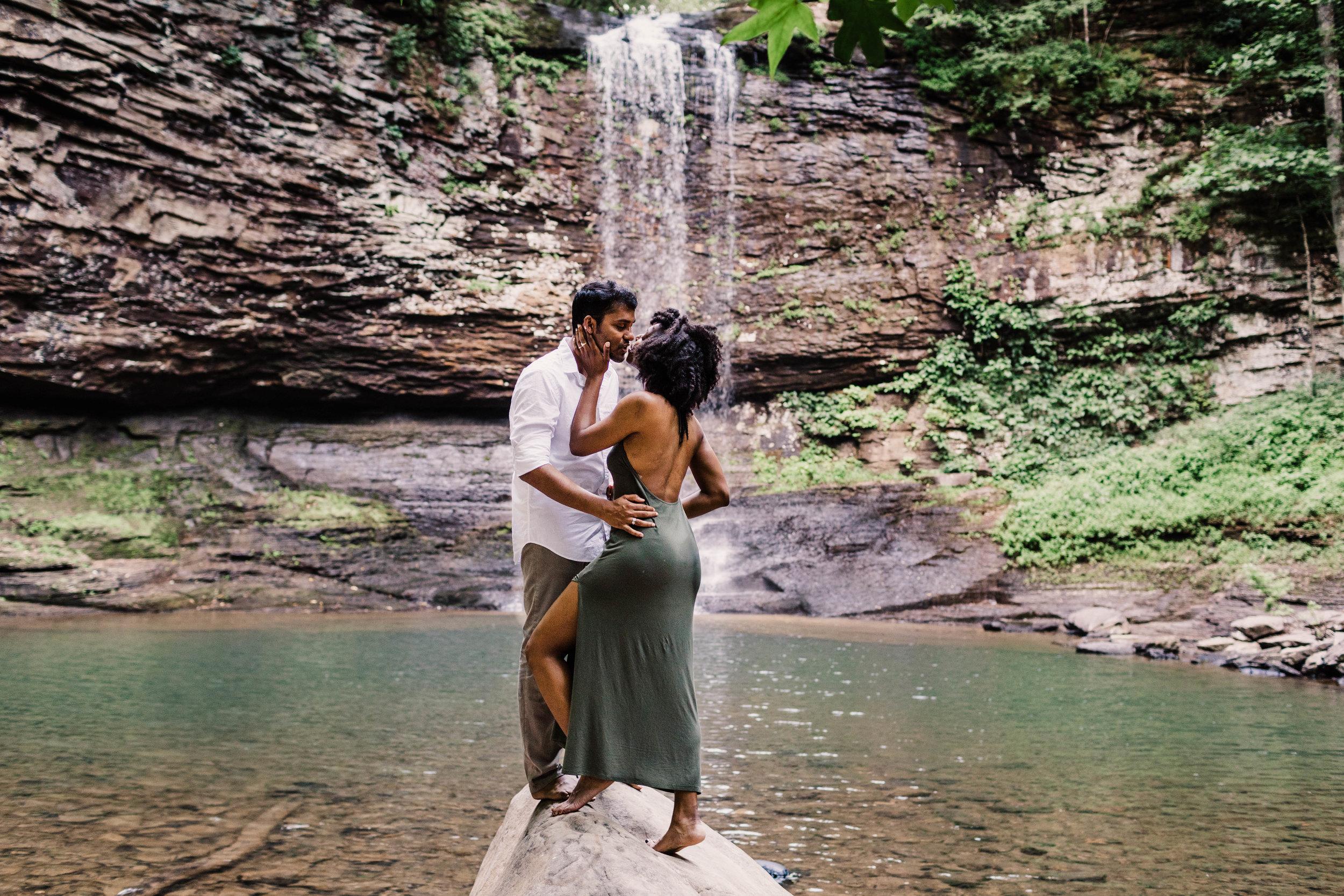 Waterfall Asheville Adventure Session | Asheville Elopement Photographer 4