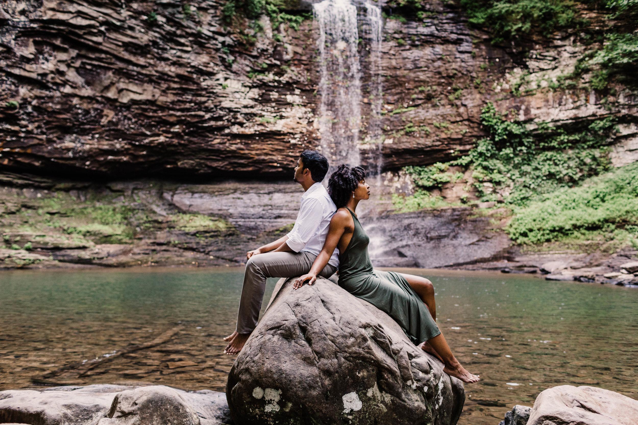 Mountain Waterfall Adventure Session | Asheville North Carolina Elopement Photographer 2