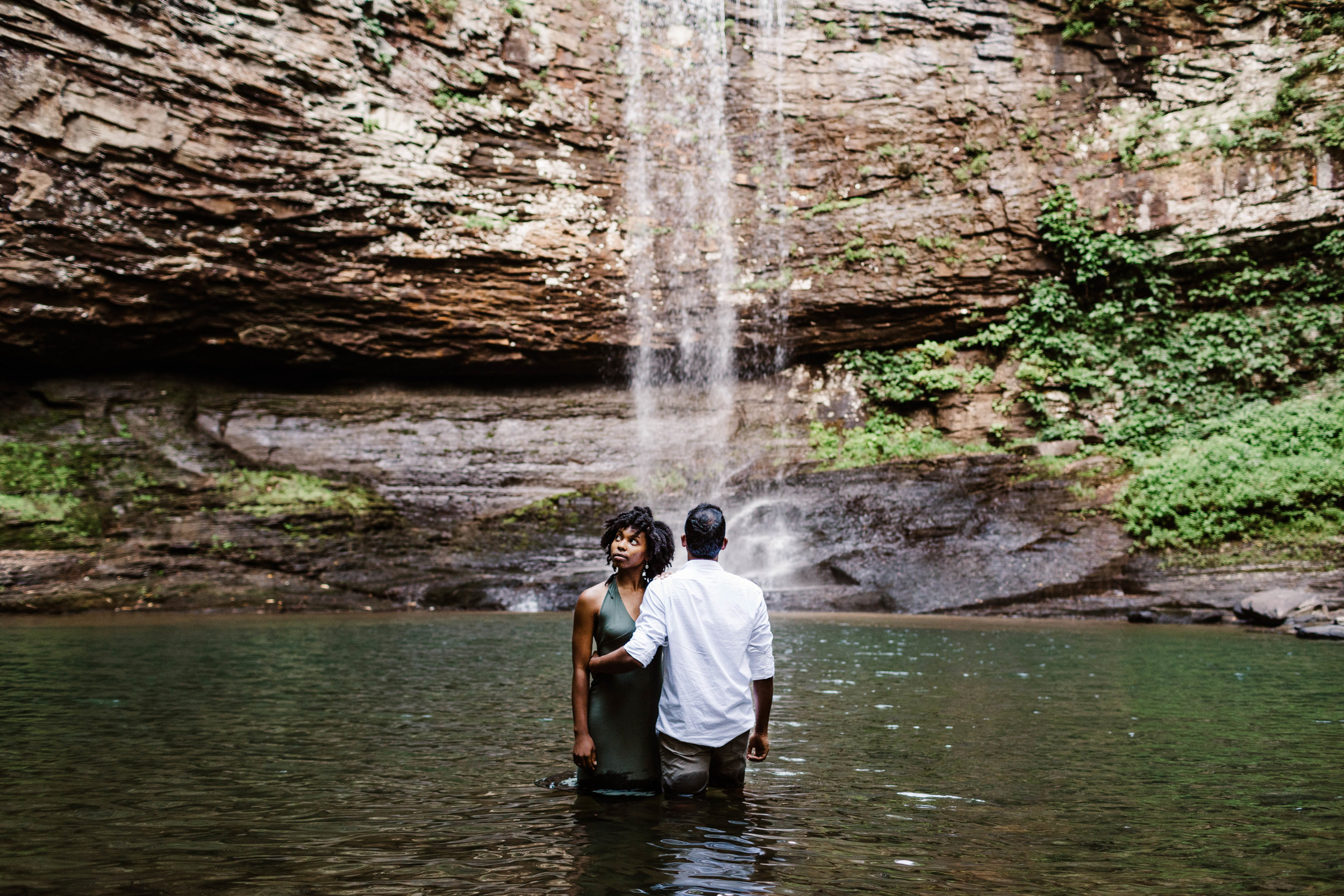 Asheville Adventure Session | Waterfall Elopement Photographer 2