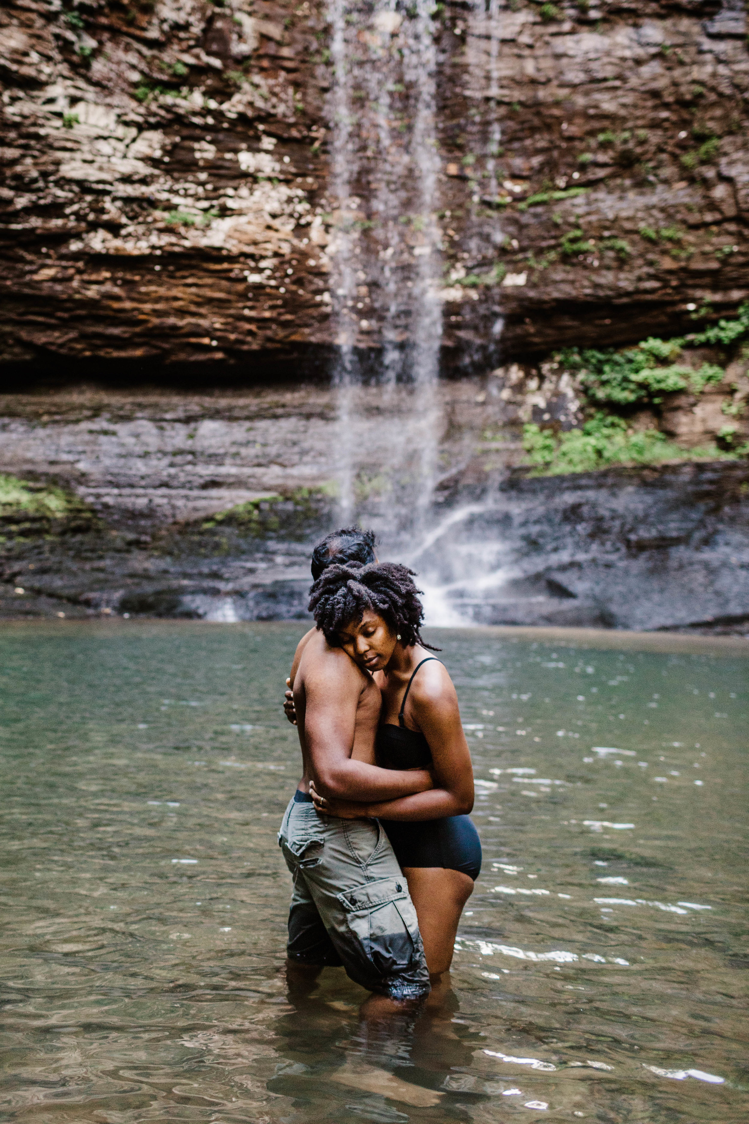 Swimming Under Waterfall Engagement Session | Adventure Elopement Photographer 1