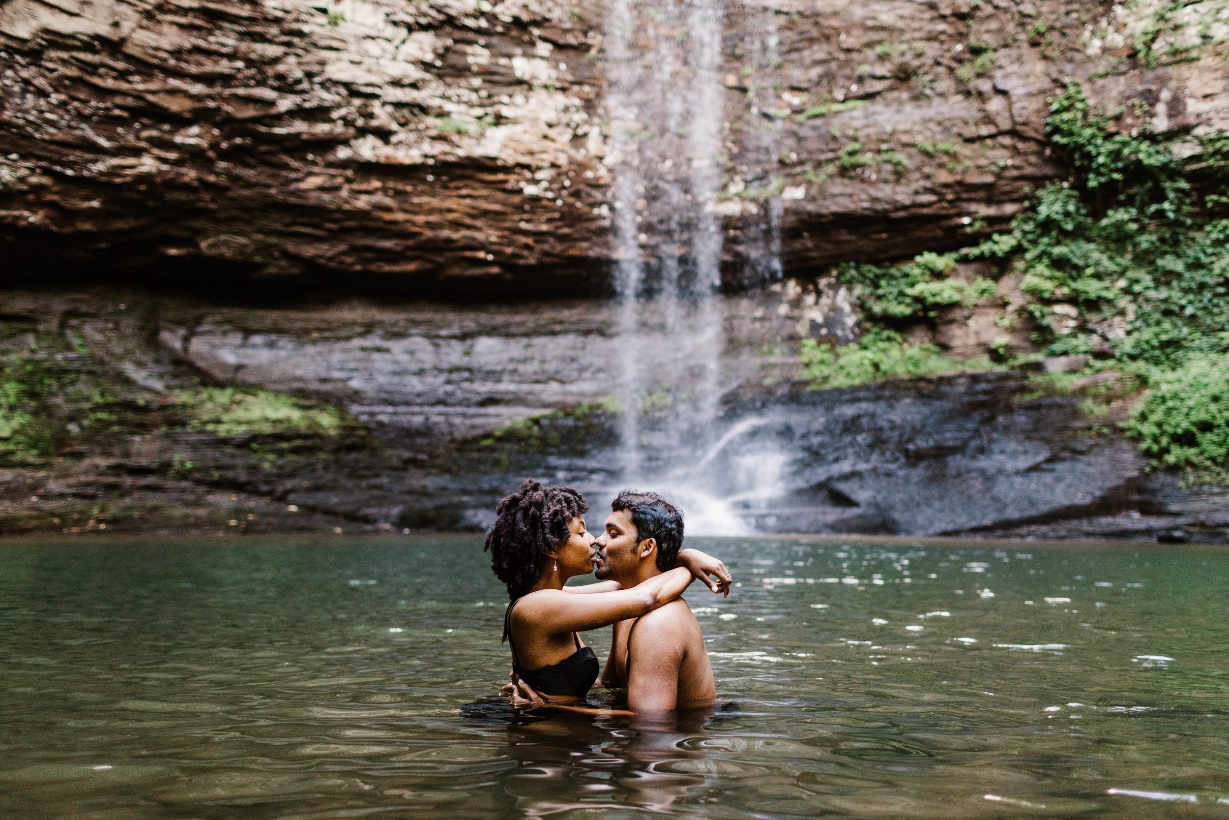 Steamy Waterfall Engagement Session | Best Asheville North Carolina Elopement Photographer