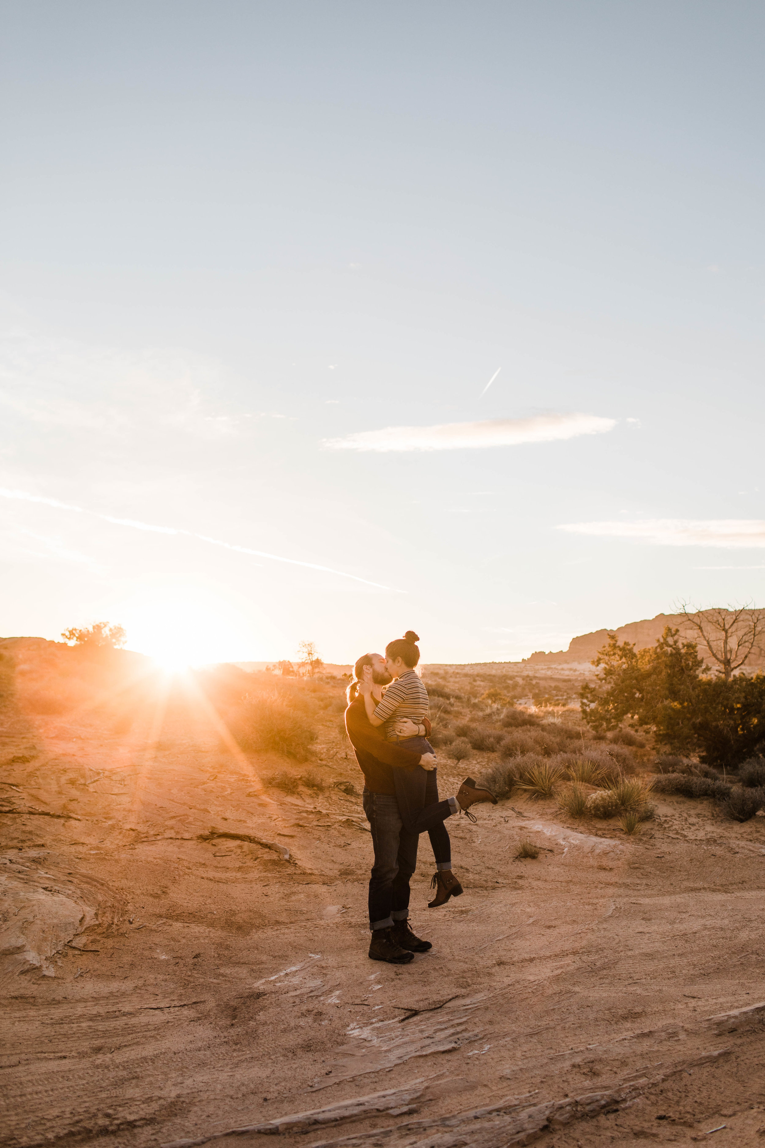 Copy of Kissing at sunset in Moab | Best Colorado Elopement Photographers