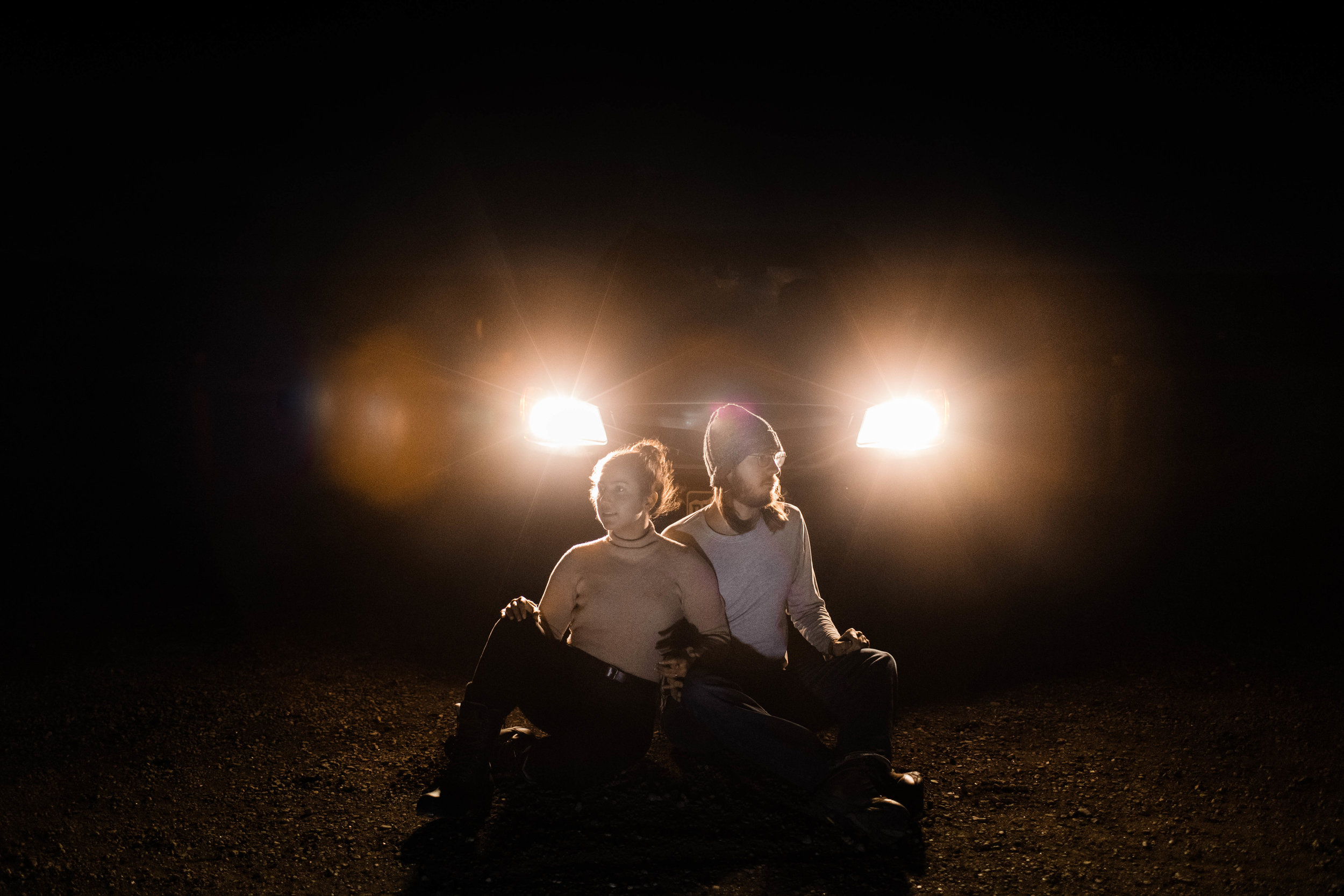 Night engagement session in Fort Collins Colorado | Best Fort Collins wedding photographers