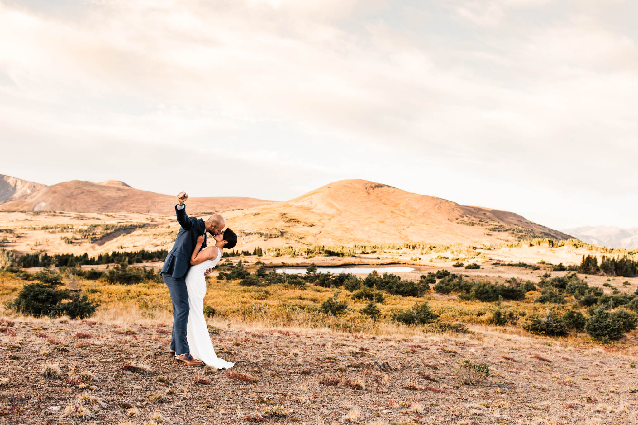 Rocky Mountain National Park post-wedding adventure session | best Colorado wedding photographers