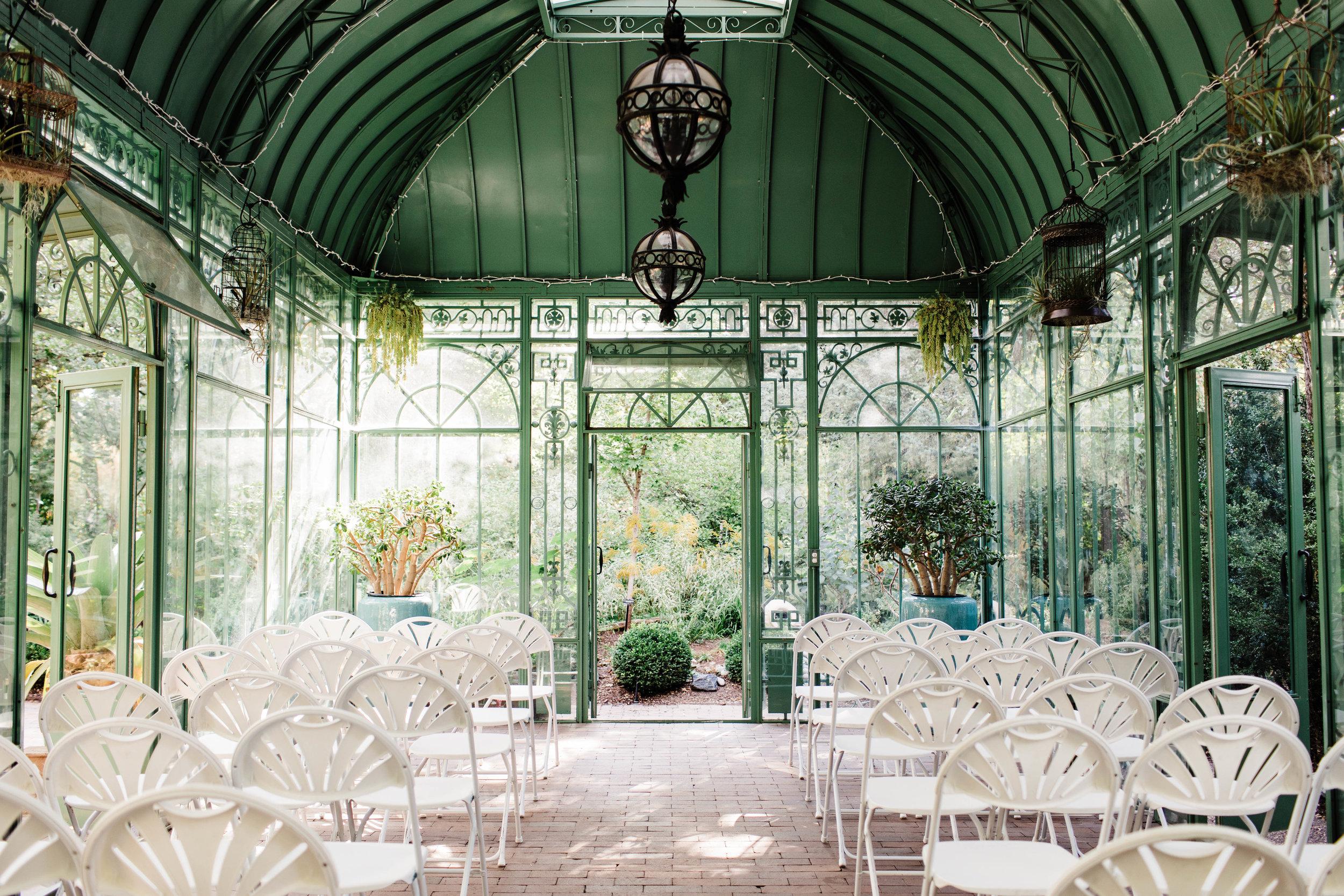 Denver Botanic Gardens Woodland Mosaic ceremony | Colorado wedding photographers