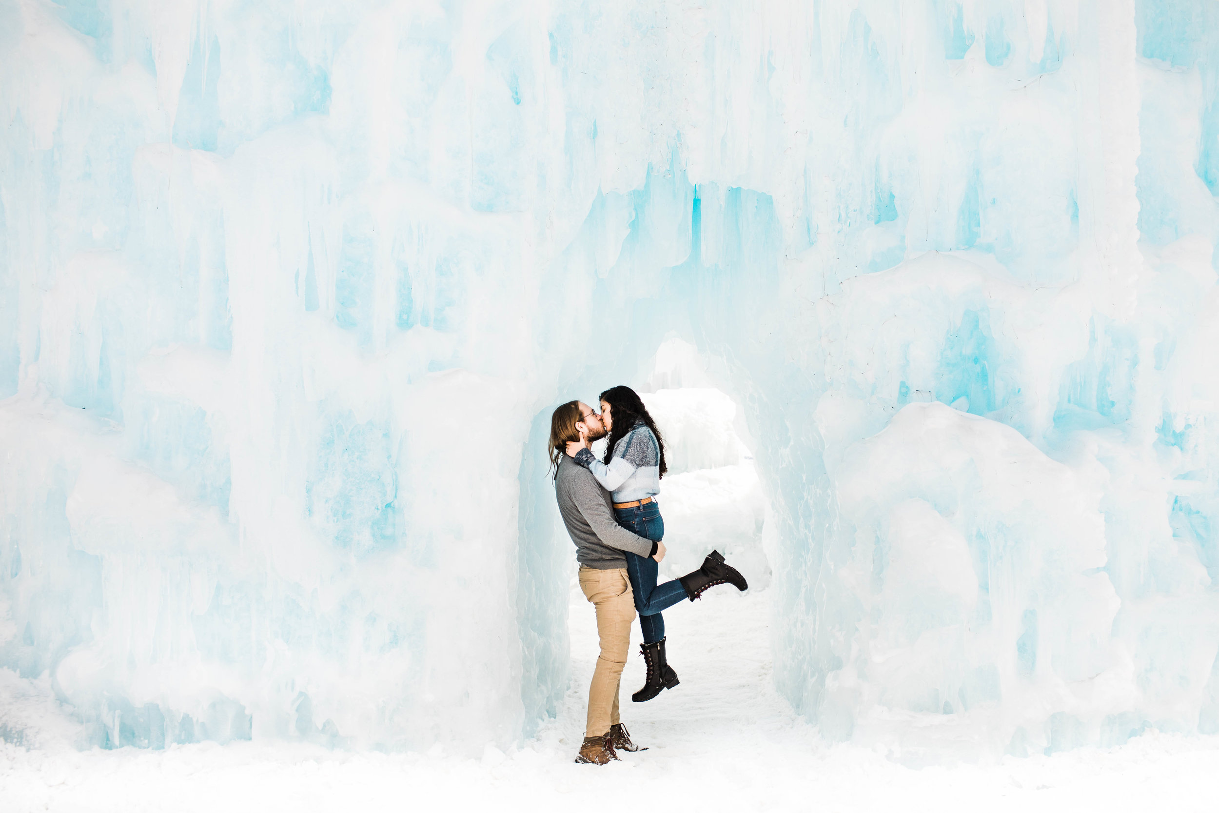 Colorado ice castles engagement session | wedding photographers near Fort Collins Colorado