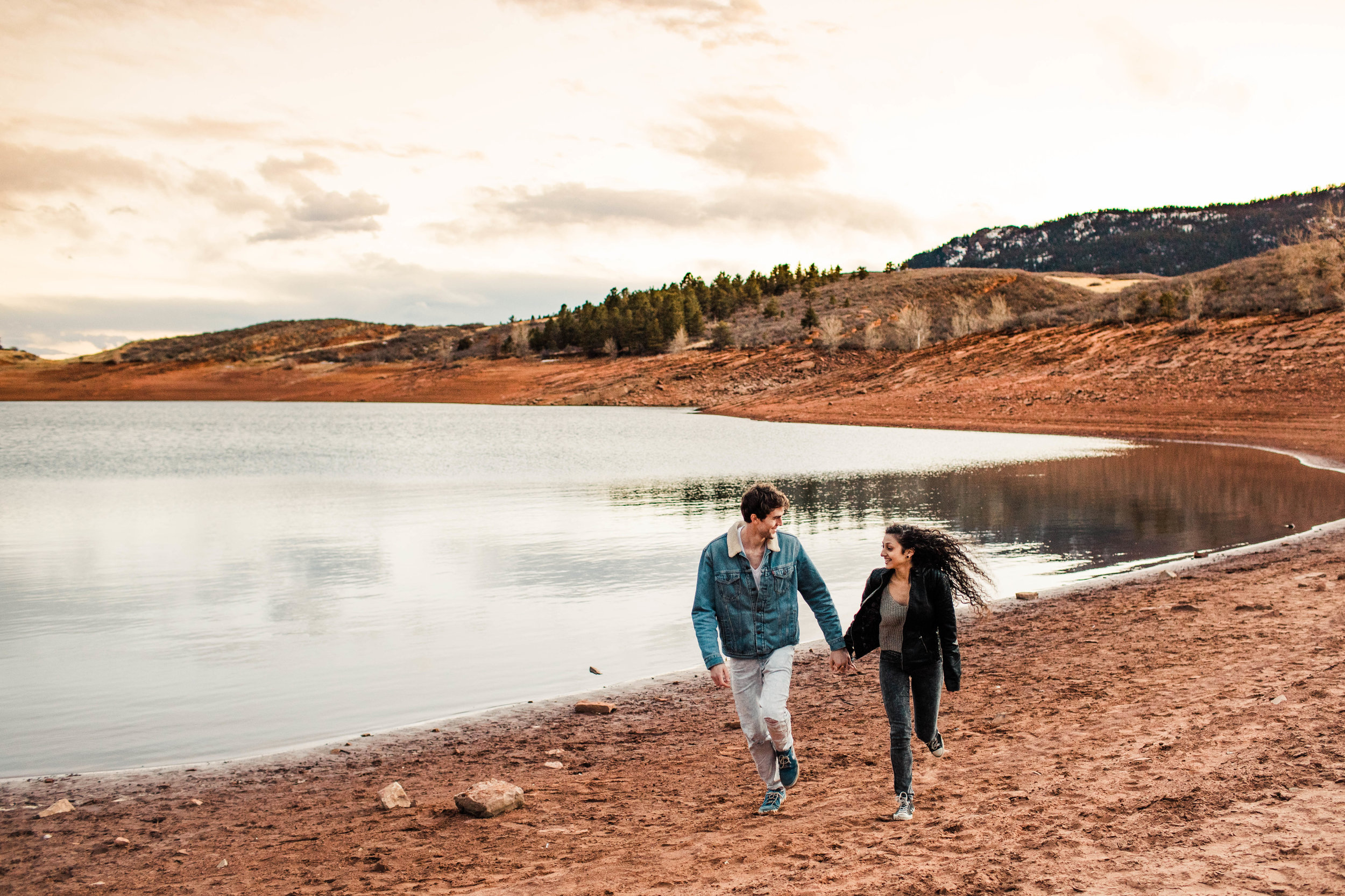 sunset engagement session in Fort Collins | Fort Collins wedding photographers