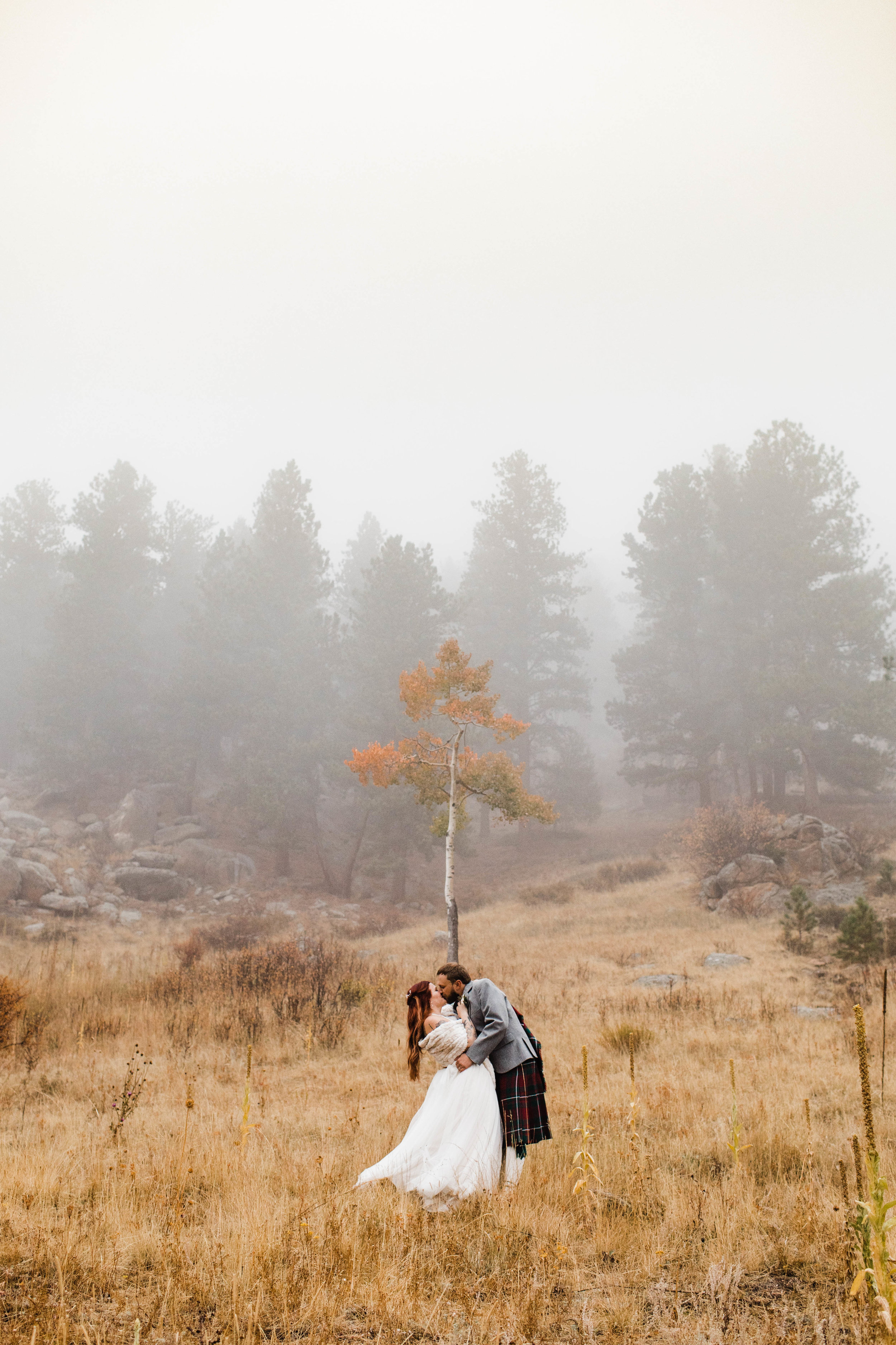 Fall mountain adventure wedding at Della Terra in Estes Park | Colorado adventure wedding photographers
