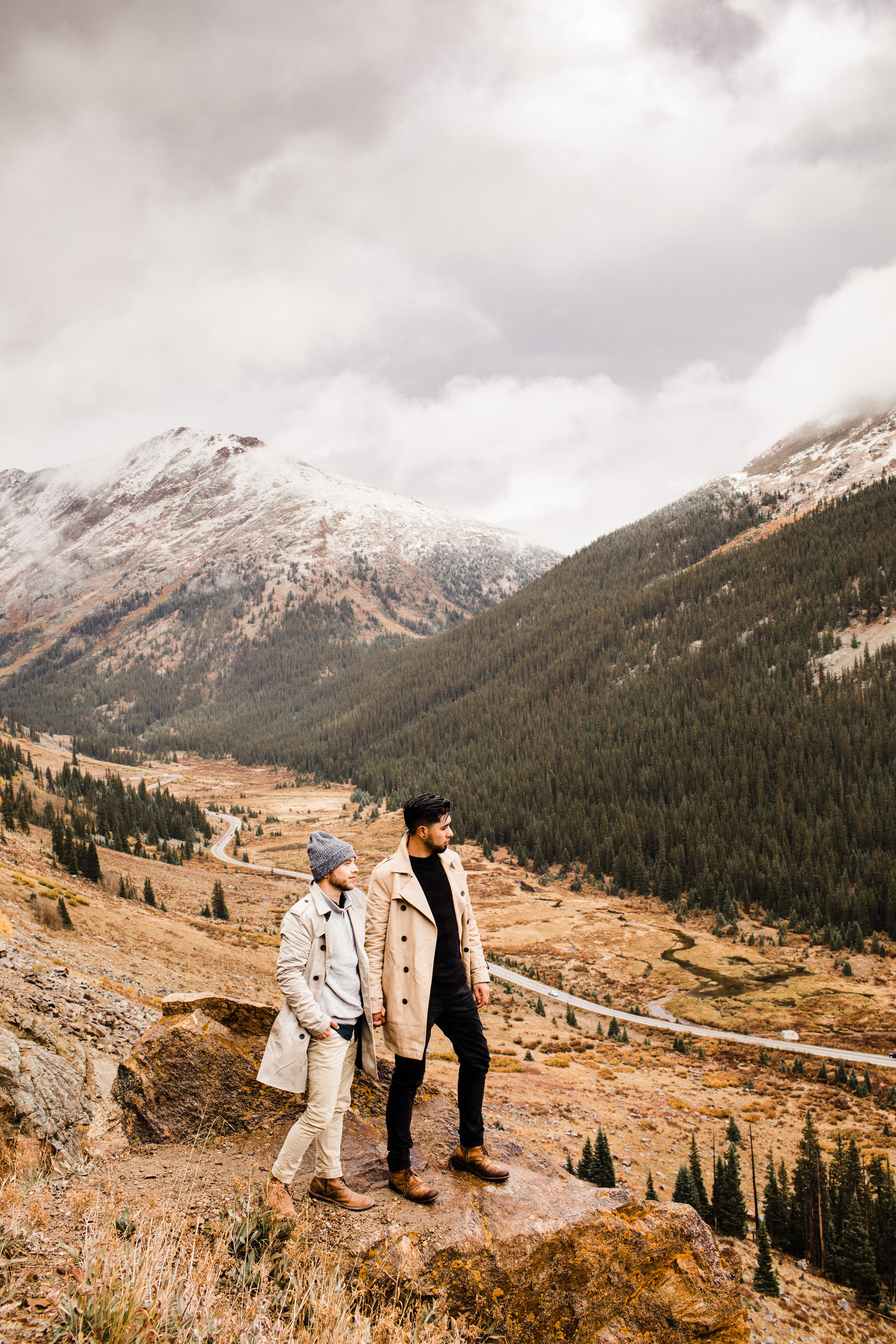 Independence Pass and Maroon Bells Engagement Photos | Aspen, Colorado Adventure Session | Adventure Wedding photographers in Colorado