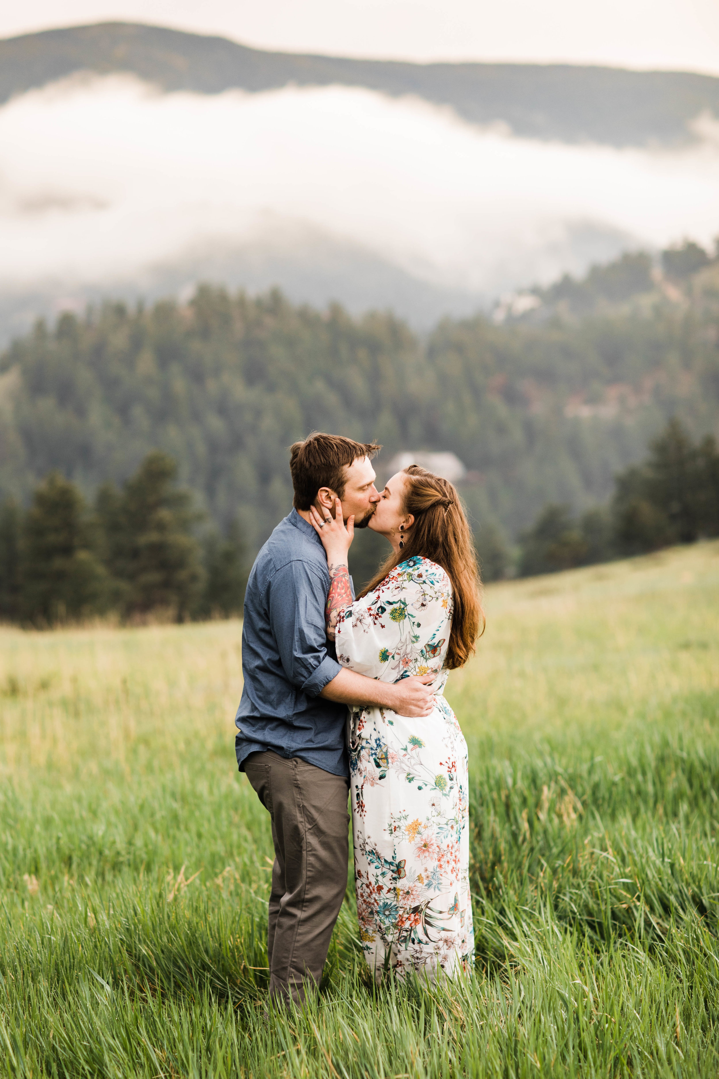 Adventure Engagement Session in the Colorado Rocky Mountain Foothills | Boulder Elopement Photographer | Colorado Adventure Wedding Photographer